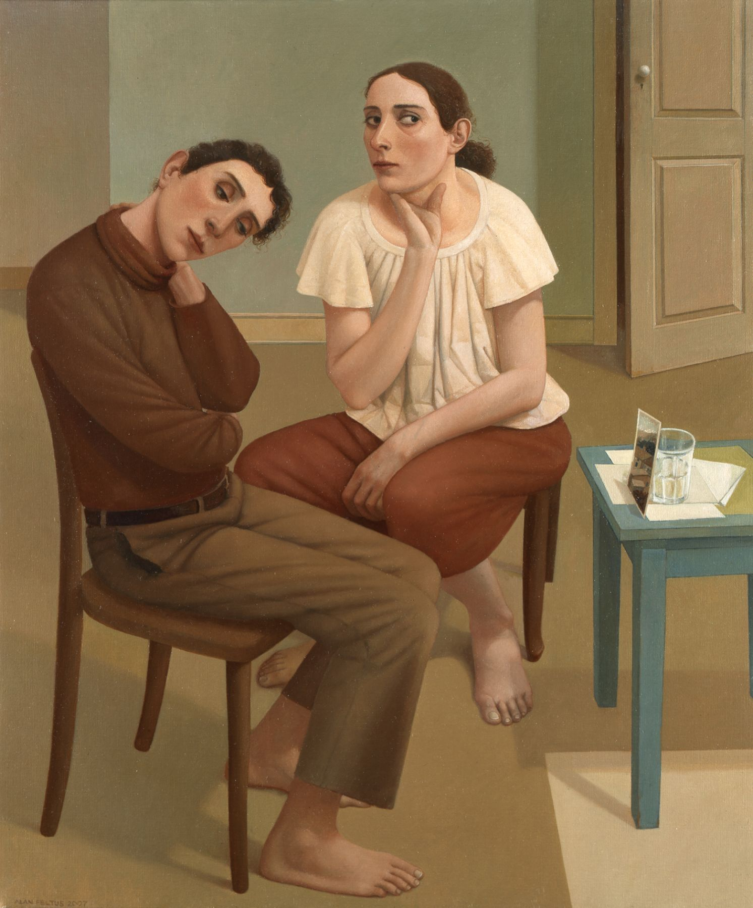 alan feltus, The Best of Times, 2007, oil on canvas, 47 1/4 x 39 1/4 inches