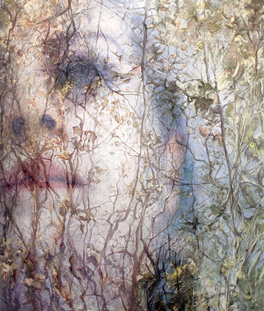 alyssa monks, Deference, 2015, oil on linen, 66 x 56 inches