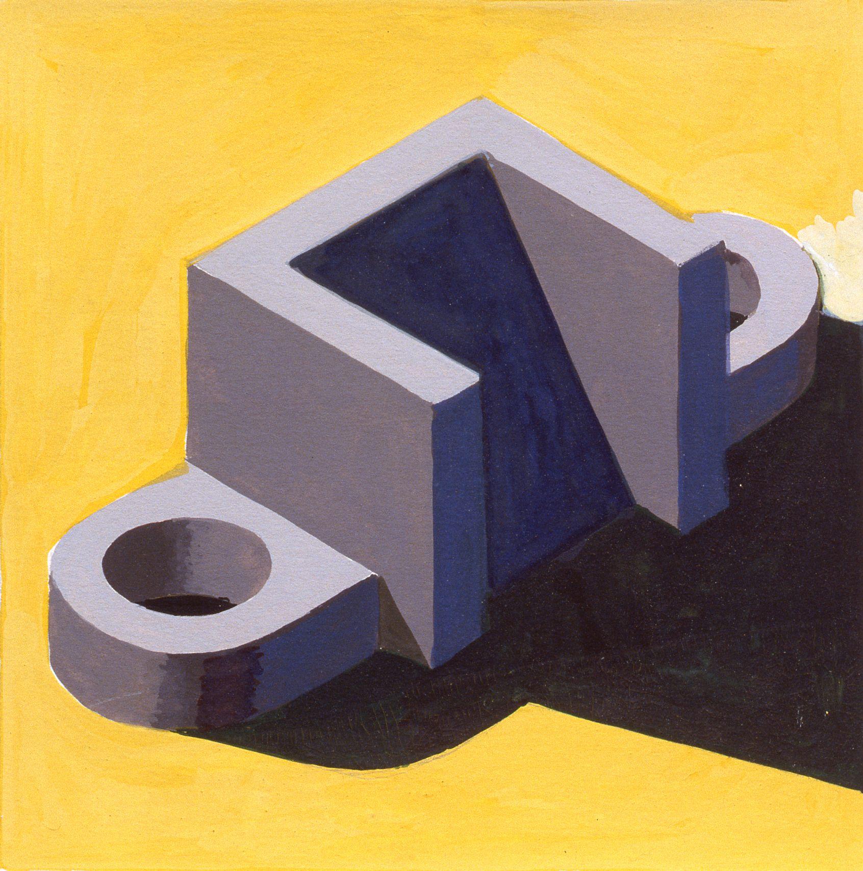 Robert Cottingham, Component XXXVI, 2005, gouache on paper, 5 1/2 x 5 1/2 inches