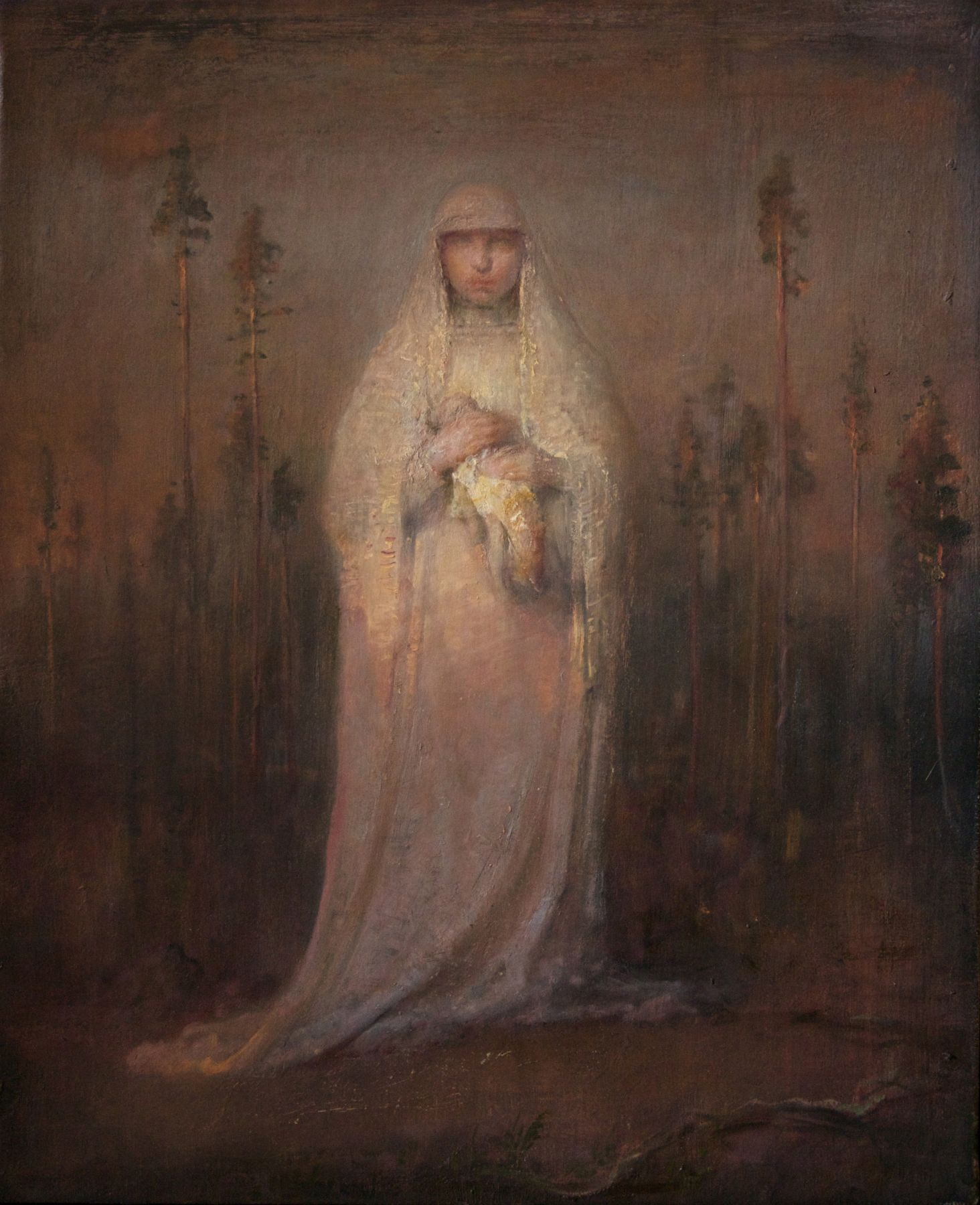 Odd Nerdrum, Bride with a Doll, oil on canvas, 25 1/2 x 21 1/2 inches