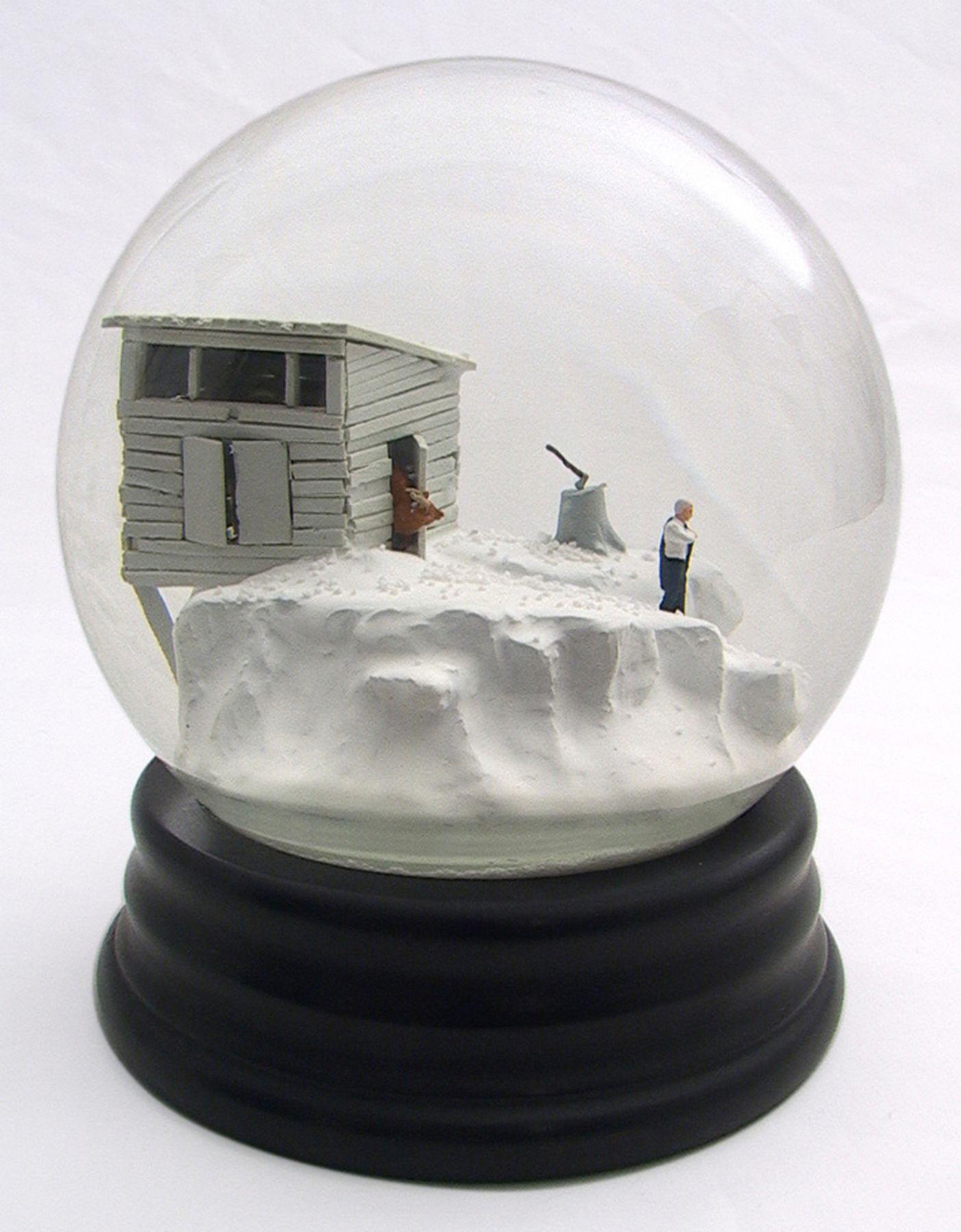 Walter Martin & Paloma Munoz, Traveler CLXXVI (176), 2012, glass, wood, water and plastic, 9 x 6 x 6 inches