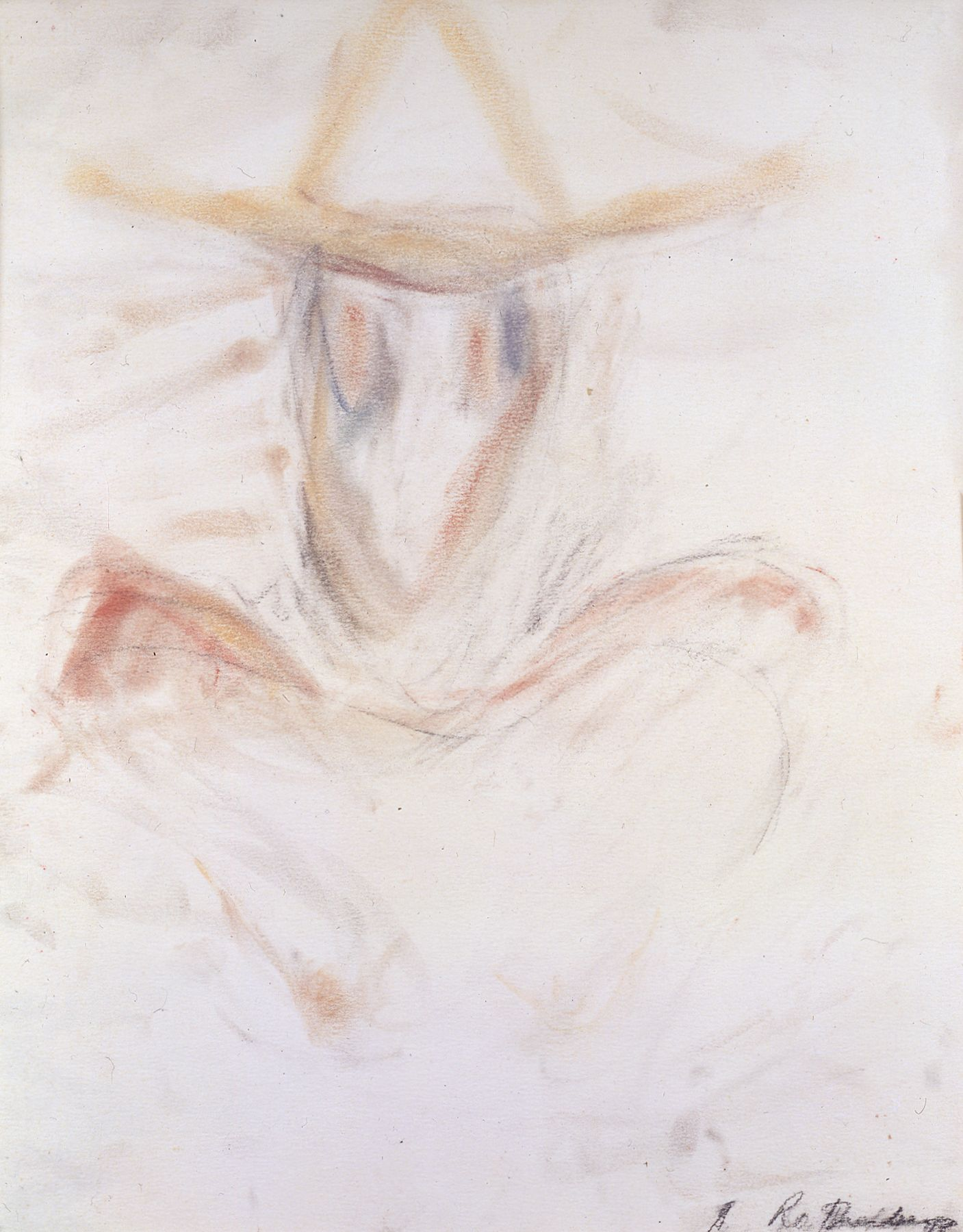 Susan Rothenberg, Self-Portrait, 1983, pastel on paper, 17 1/4 x 13 1/2 inches