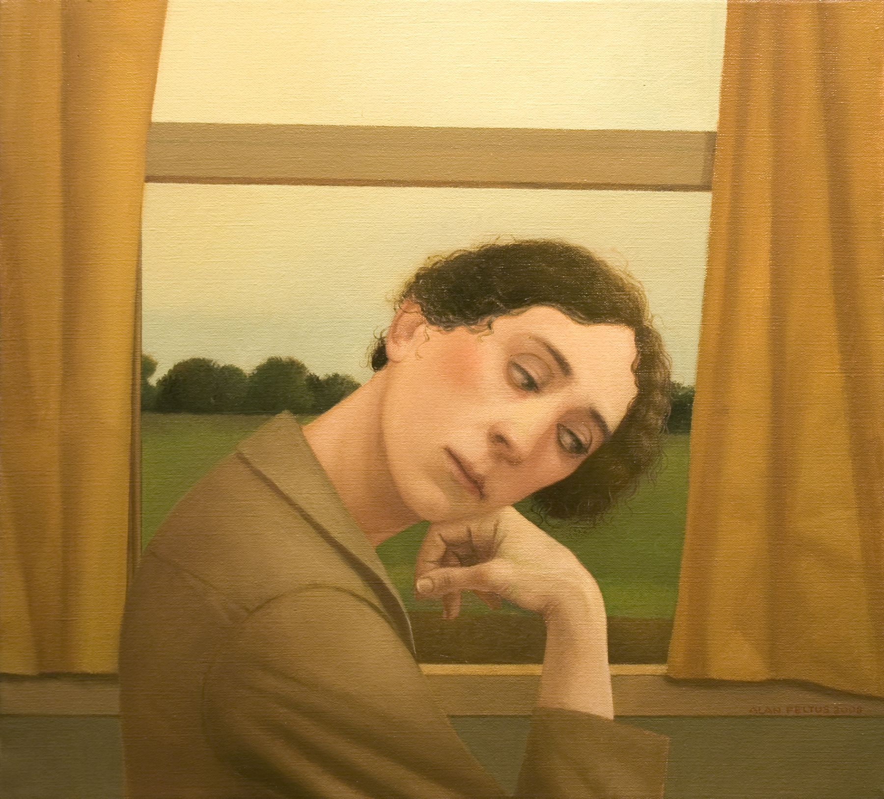 alan feltus, Traveller, 2008, oil on canvas, 20 x 22 inches