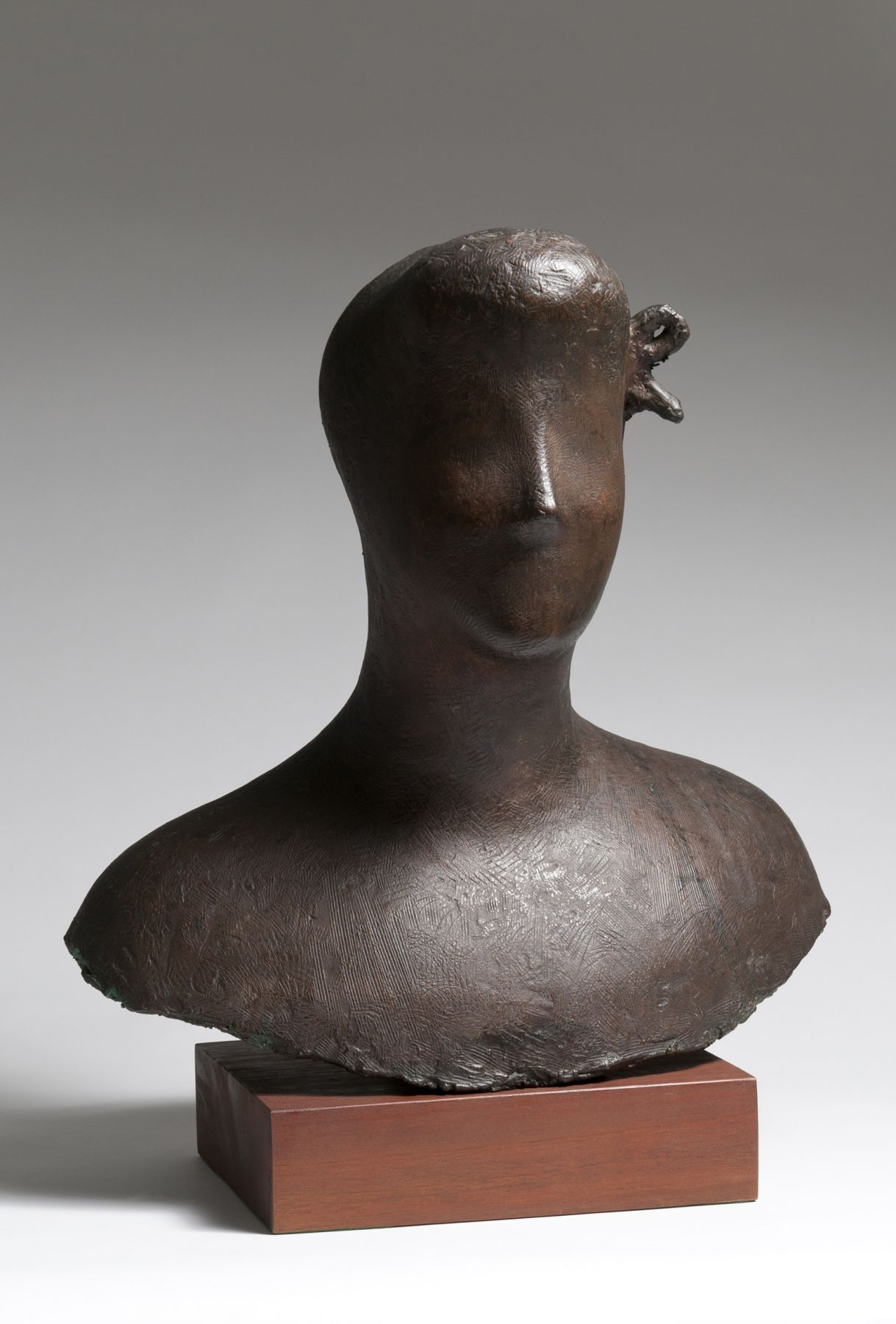 Elie Nadelman, Bust of a Woman, 1926–27, galvano plastique, 21 1/4 h x 20 1/2 w x 12 1/2 d inches