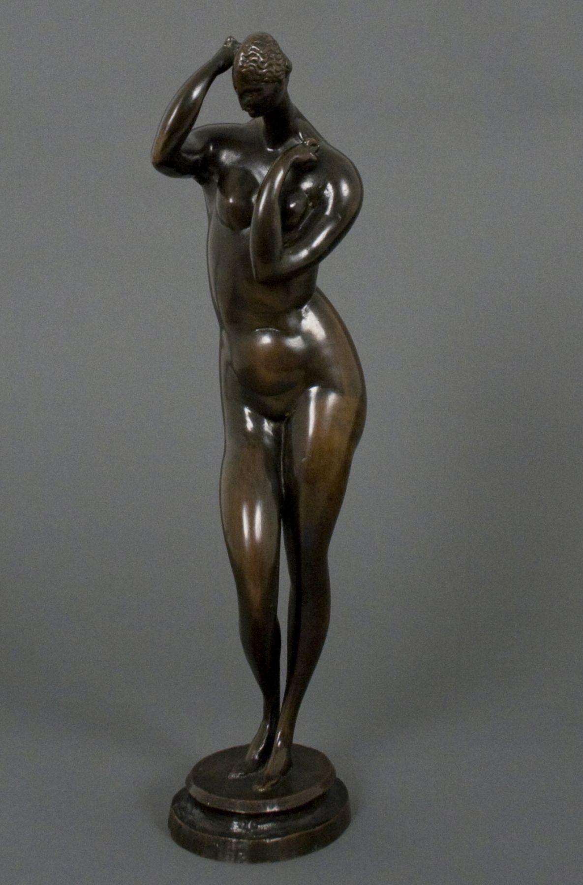 Elie Nadelman, Standing Female Nude, c. 1909-1915, bronze, 15 x 5 1/4 x 4 inches