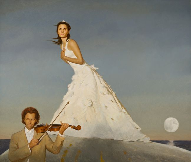 Bo Bartlett, The Triumph of Romance (SOLD), 2008, oil on linen, 76 x 90 inches