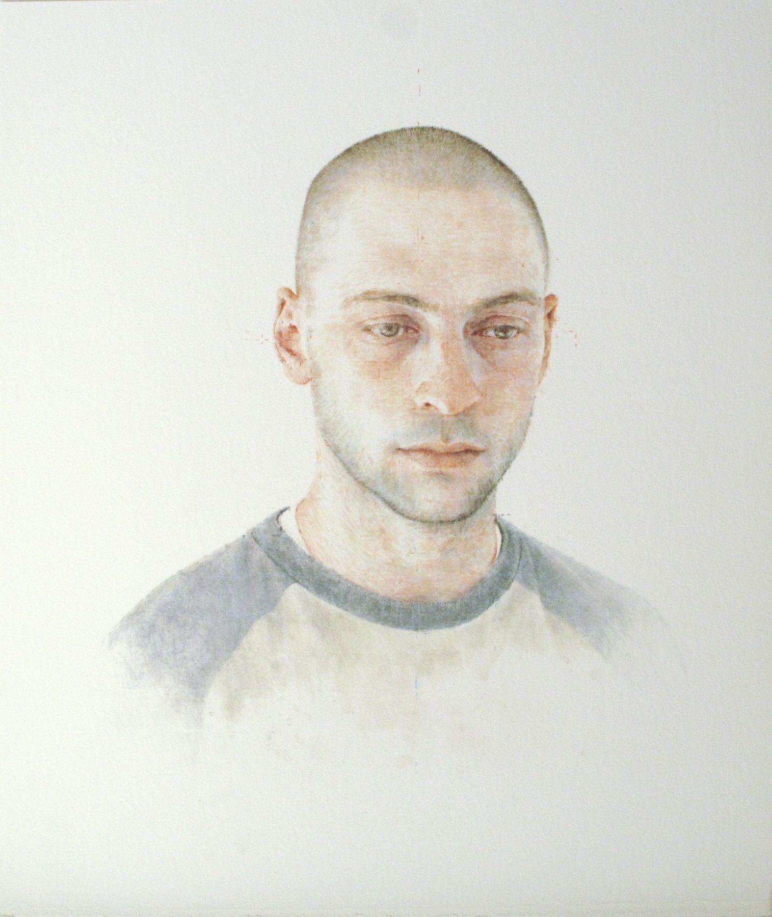 Robert Bauer, Adam (SOLD), 2011, tempera on paper, 12 x 10 inches