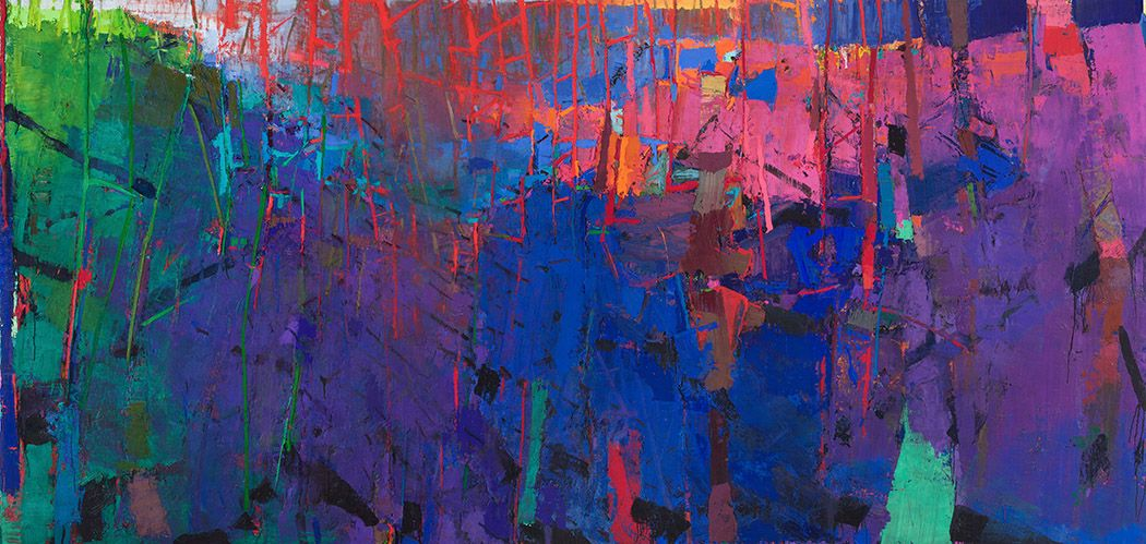 brian rutenberg, Lowcountry, 2016-17, oil on linen, 180 x 72 inches