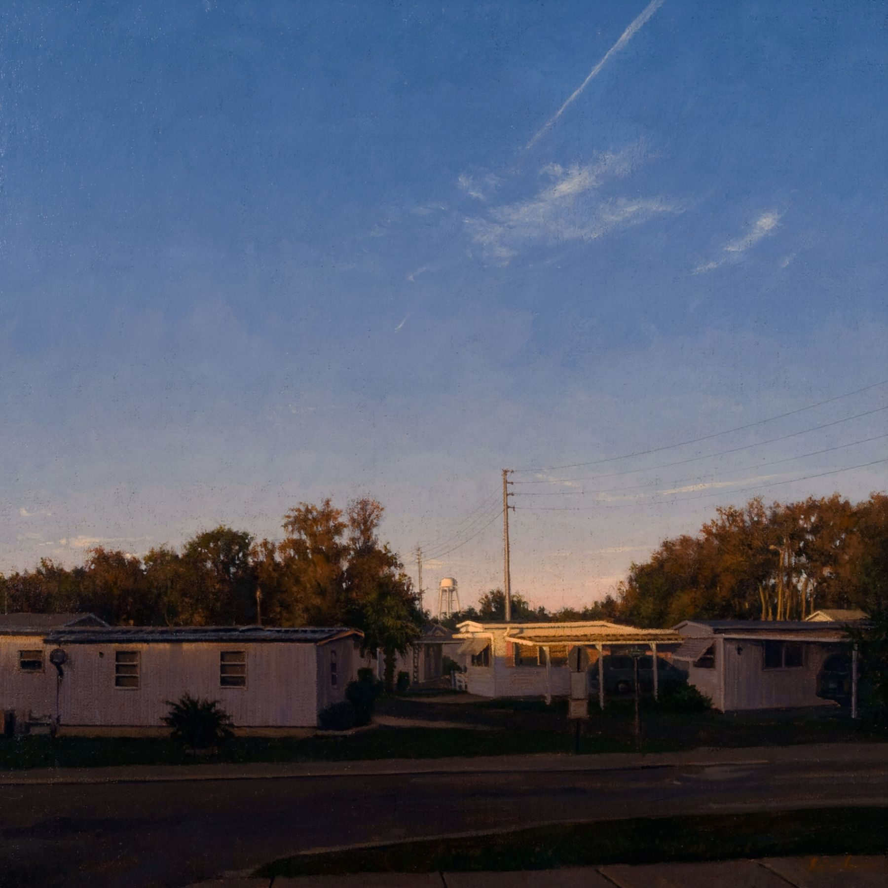 Linden Frederick, Shady Rest, 2007, oil on panel, 12 1/4 x 12 1/4 inches