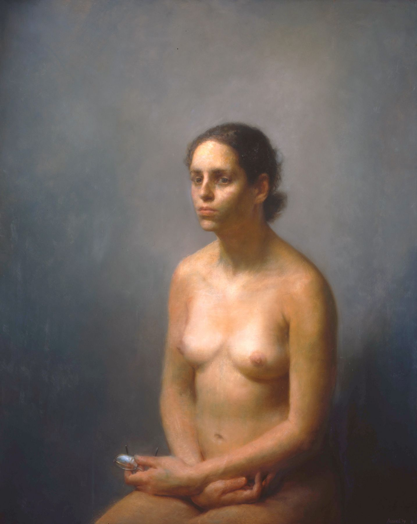 Steven Assael, Figure Holding Eyeglasses, 2006, oil on canvas, 48 x 38 3/4 inches