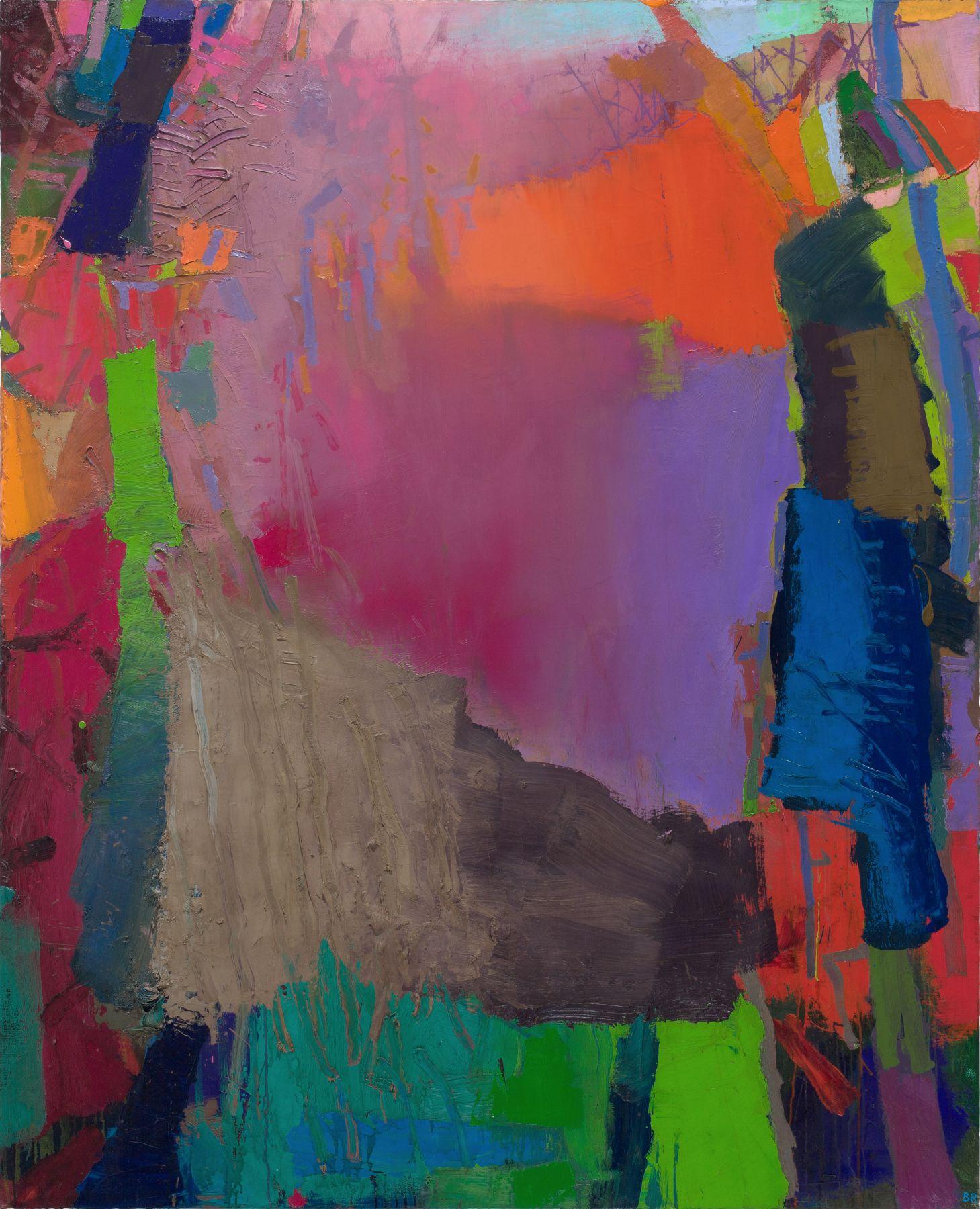 Brian Rutenberg, Hemlock (SOLD), 2013, oil on linen, 68 x 55 inches