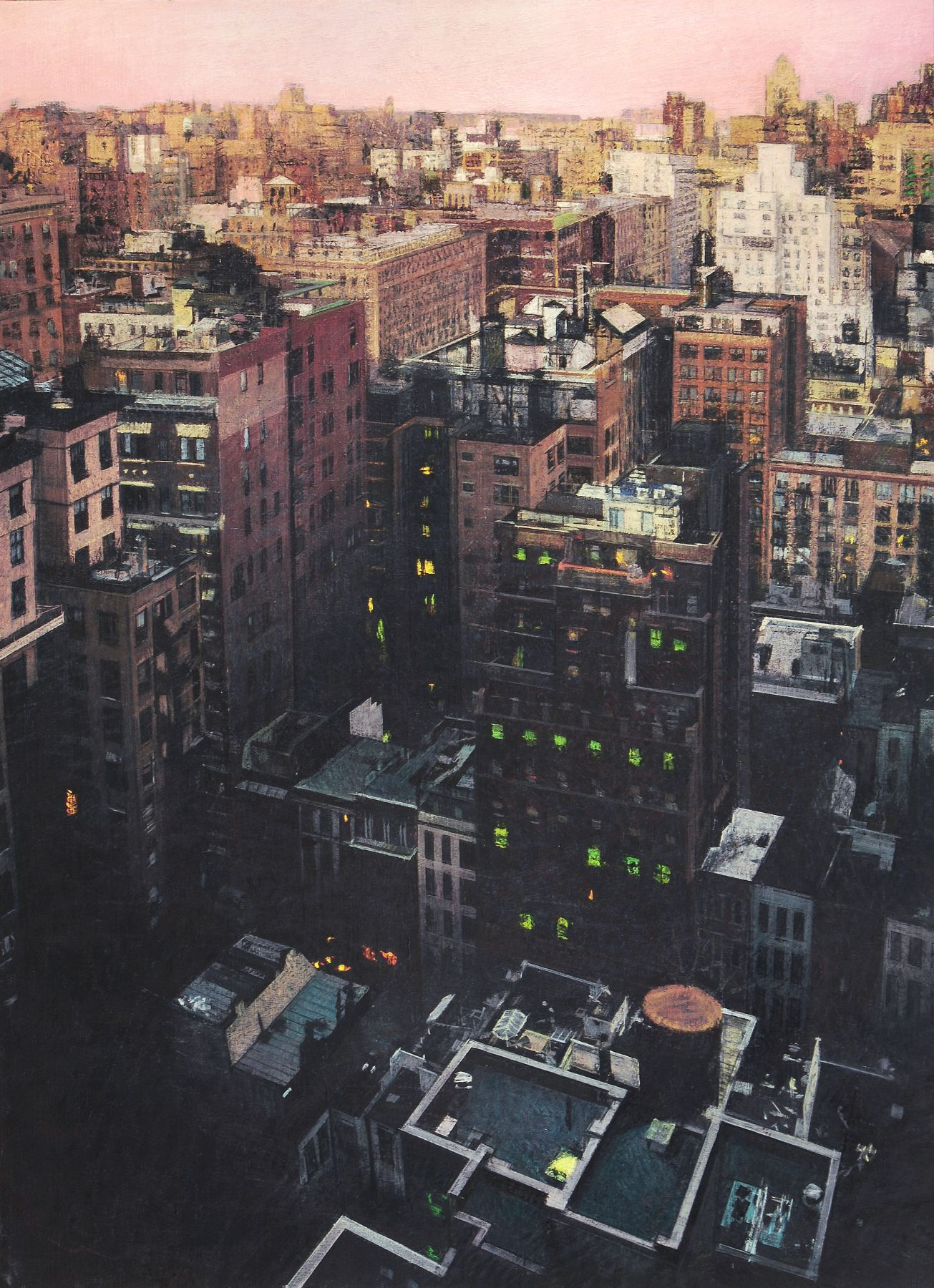 Bernardo Siciliano, Naked City #1 (SOLD), 2009, oil on canvas, 43 3/4 x 31 3/4 inches