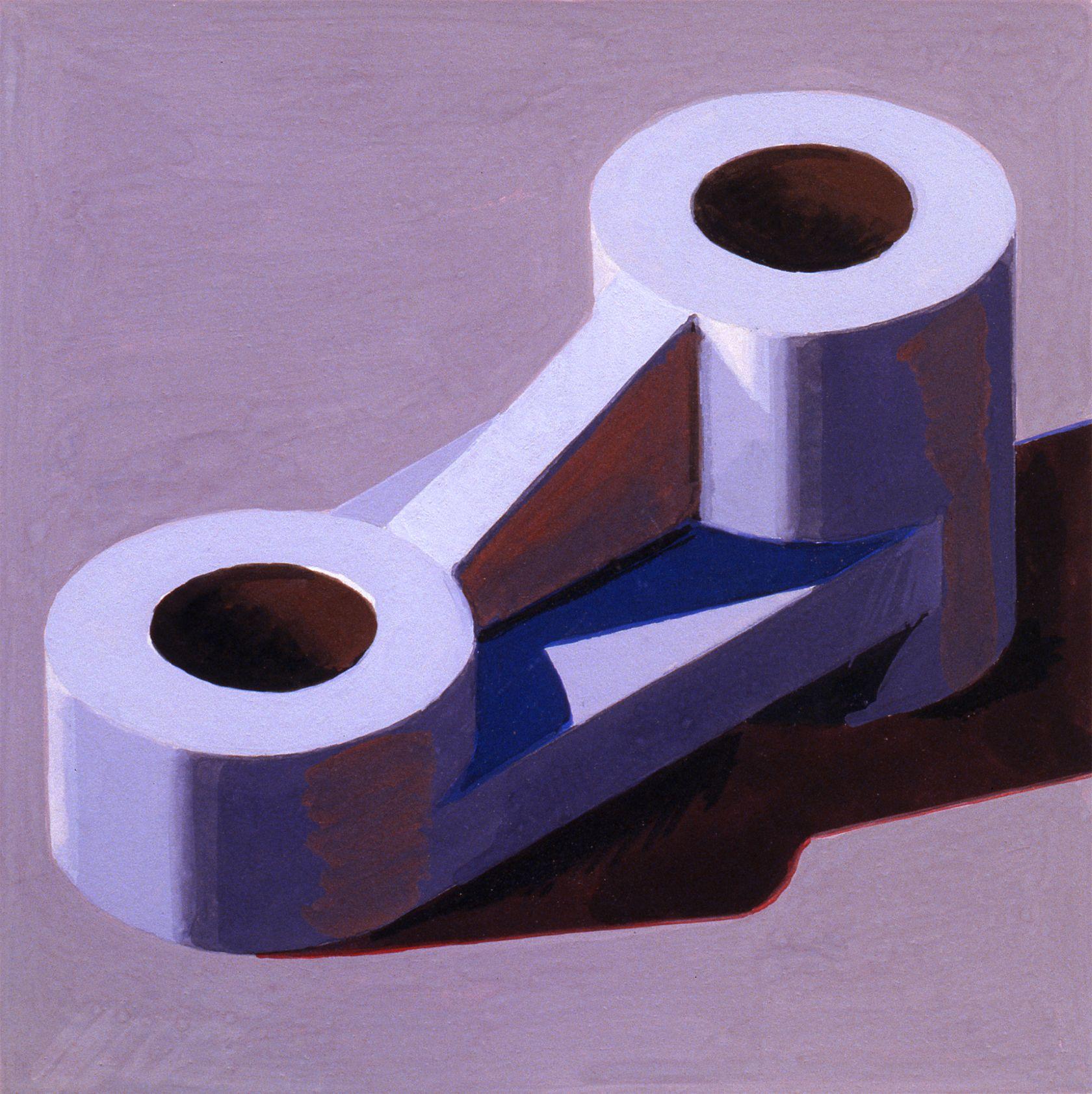 Robert Cottingham, Component XXXIV, 2005, gouache on paper, 5 1/2 x 5 1/2 inches
