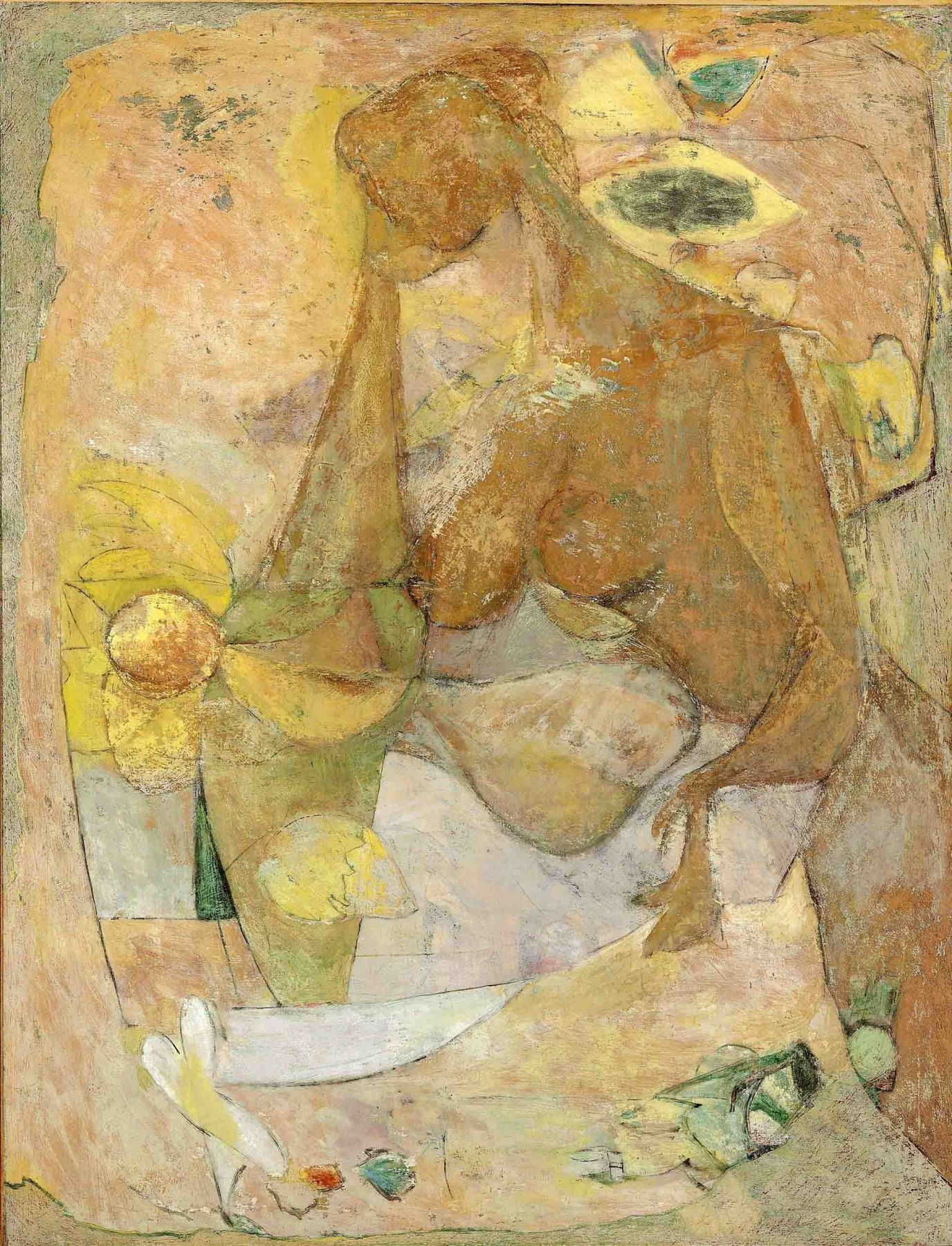 arshile gorky, Mother and Child, 1937, oil on canvas, 47 x 36 inches