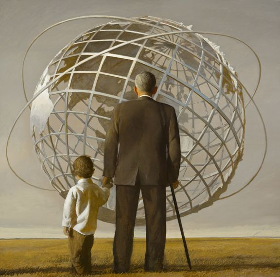 Bo Bartlett, Kingdom of Ends (SOLD), 2008, oil on linen, 82 x 82 inches