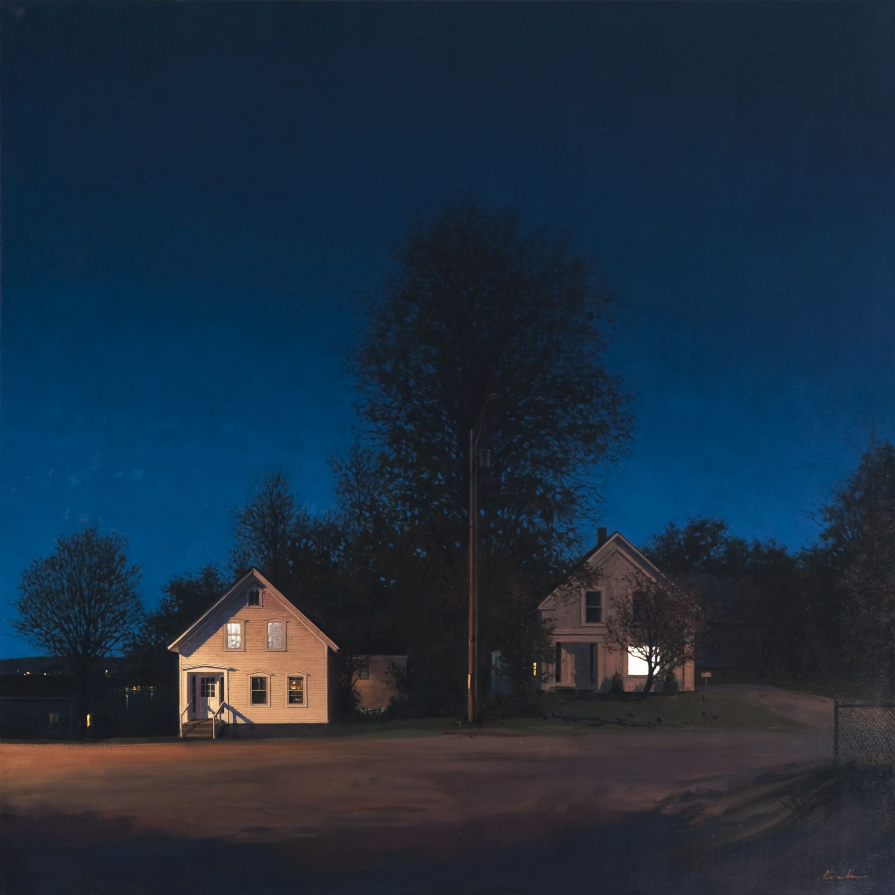 Linden Frederick Next Door (SOLD), 2009, oil on linen, 40 x 40 inches