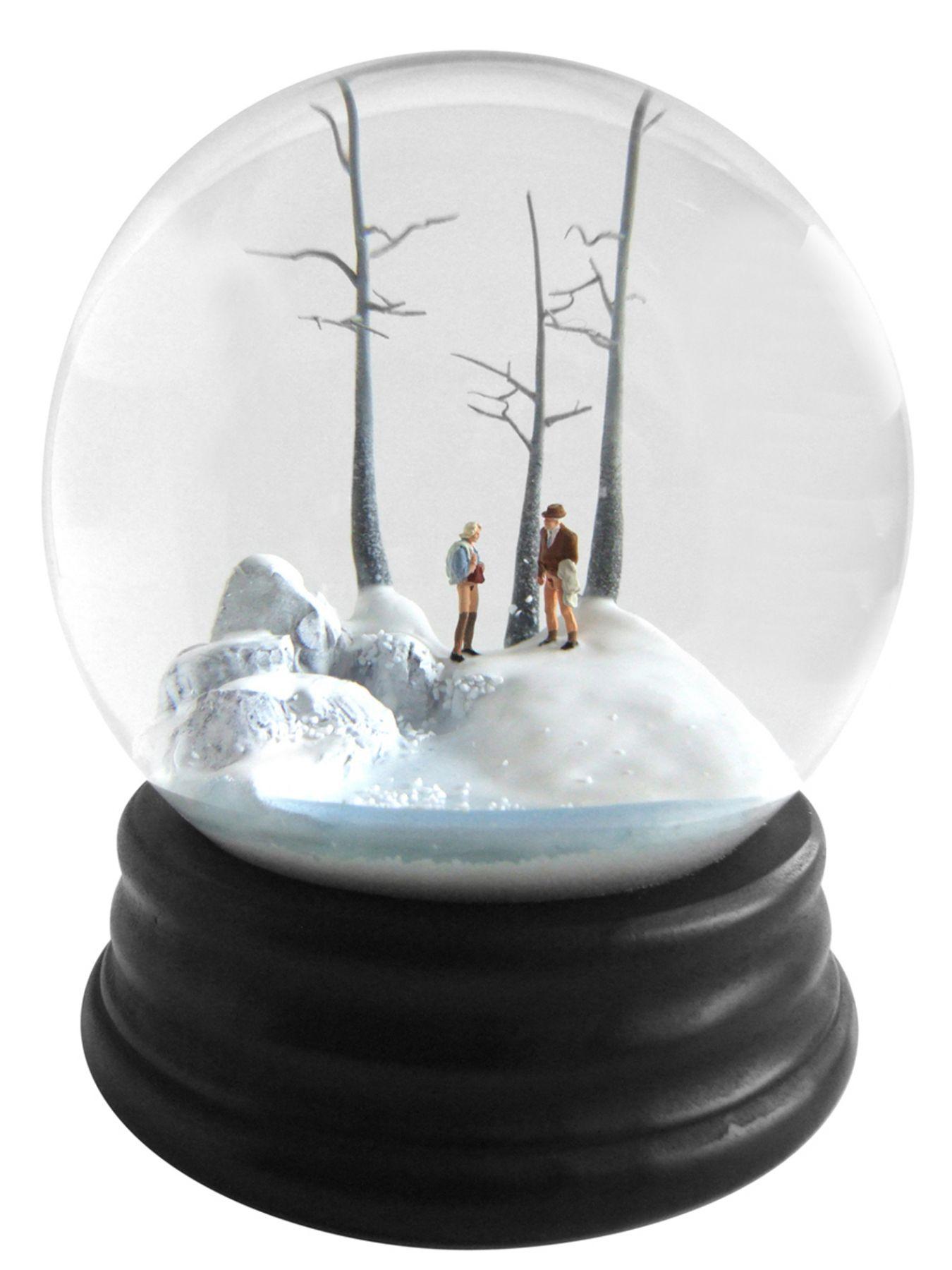 Walter Martin & Paloma Munoz, Traveler CCLVIII (258), 2012, glass, wood, water and plastic, 9 x 6 x 6 inches