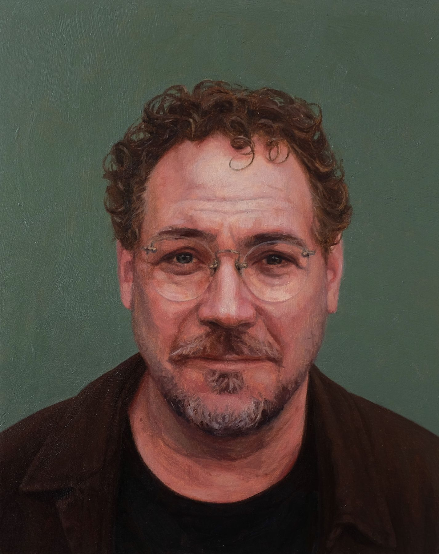 Jacob Hayes, Wade, 2017, oil on panel, 10 x 8 inches