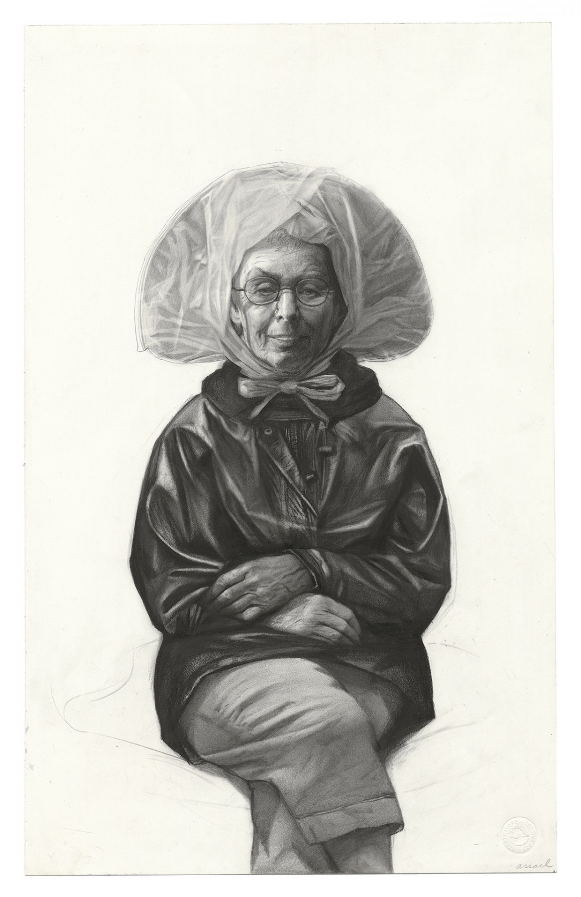 Steven Assael, Ruth, 2011, graphite on paper, 20 x 12 1/2 inches