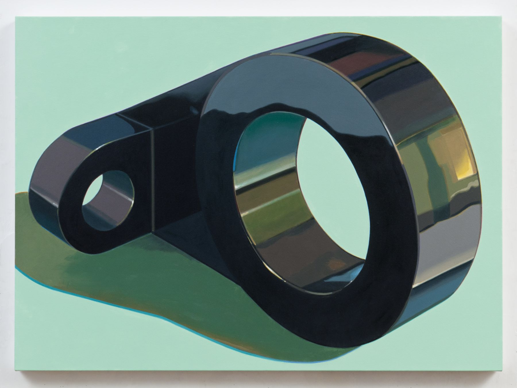 Robert Cottingham, Component IX, 2011, oil on canvas, 32 1/2 x 44 1/2 inches