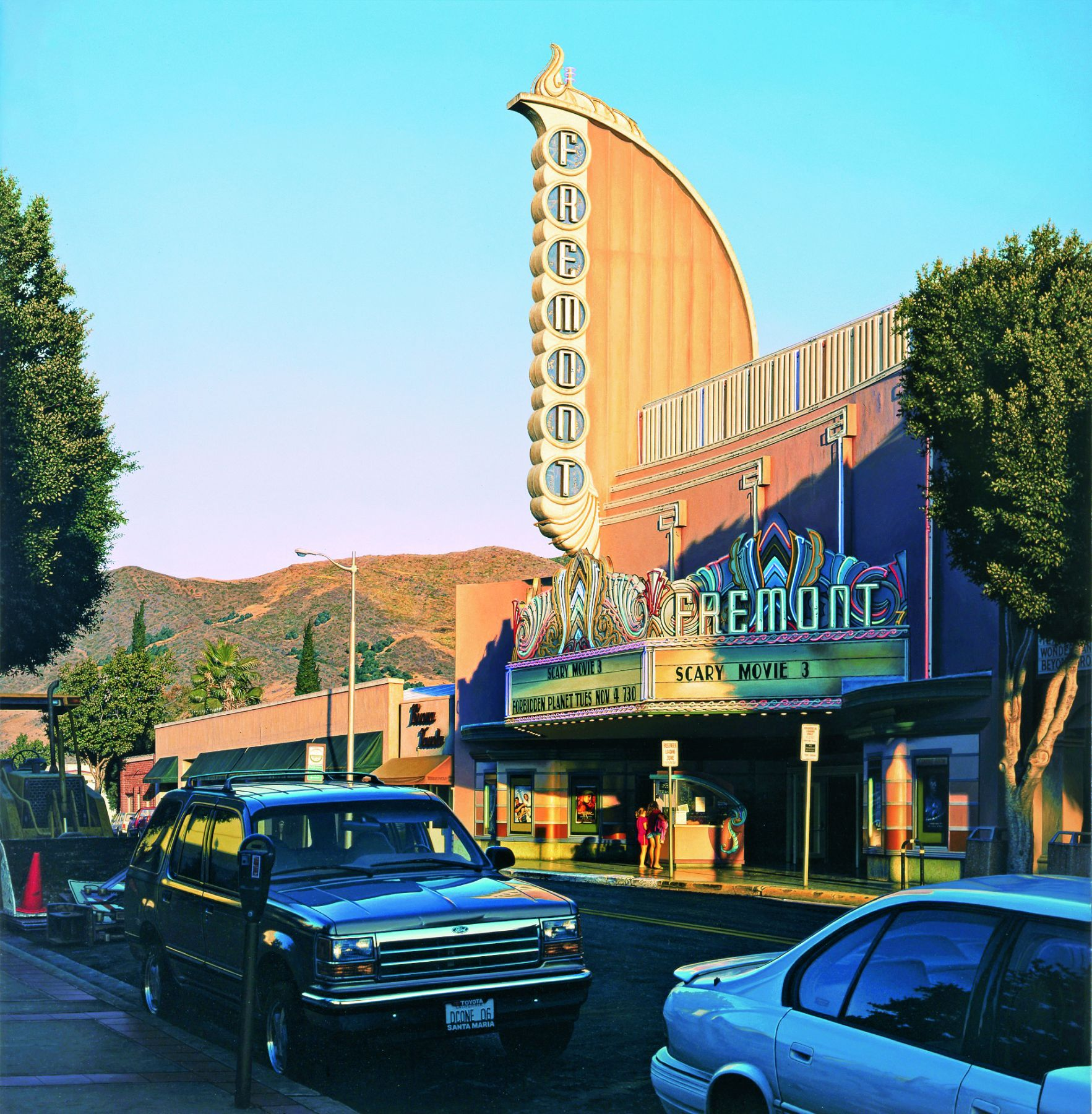 davis cone, Fremont with Two Girls, 2006, acrylic on canvas, 45 1/8 x 46 1/2 inches