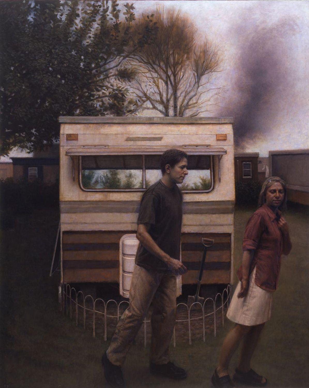 Paul Fenniak, Pursuit (SOLD), 2004, oil on canvas, 60 x 48 inches