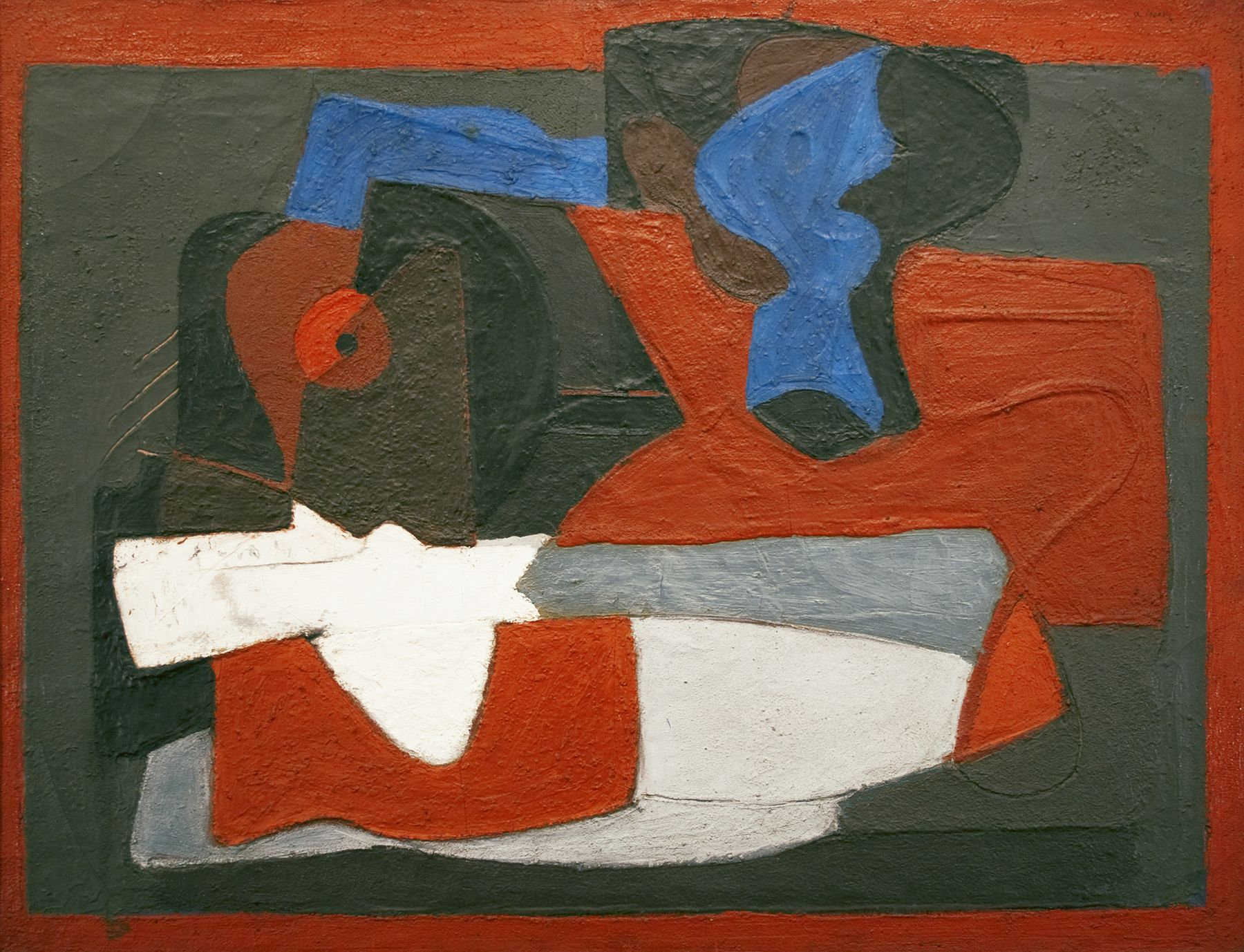arshile gorky, Enigma (Composition of Forms on Table), 1928-29, oil on canvas, 33 x 44 inches