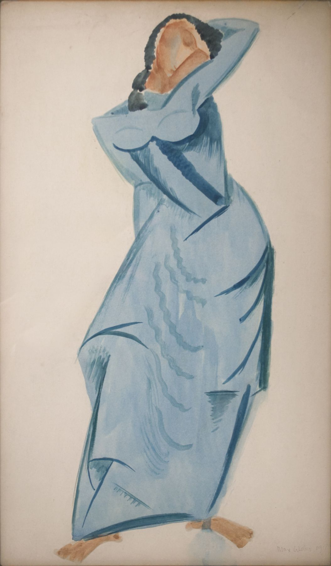 Max Weber, The Dancer (SOLD), 1911, watercolor, 22 1/4 x 14 inches