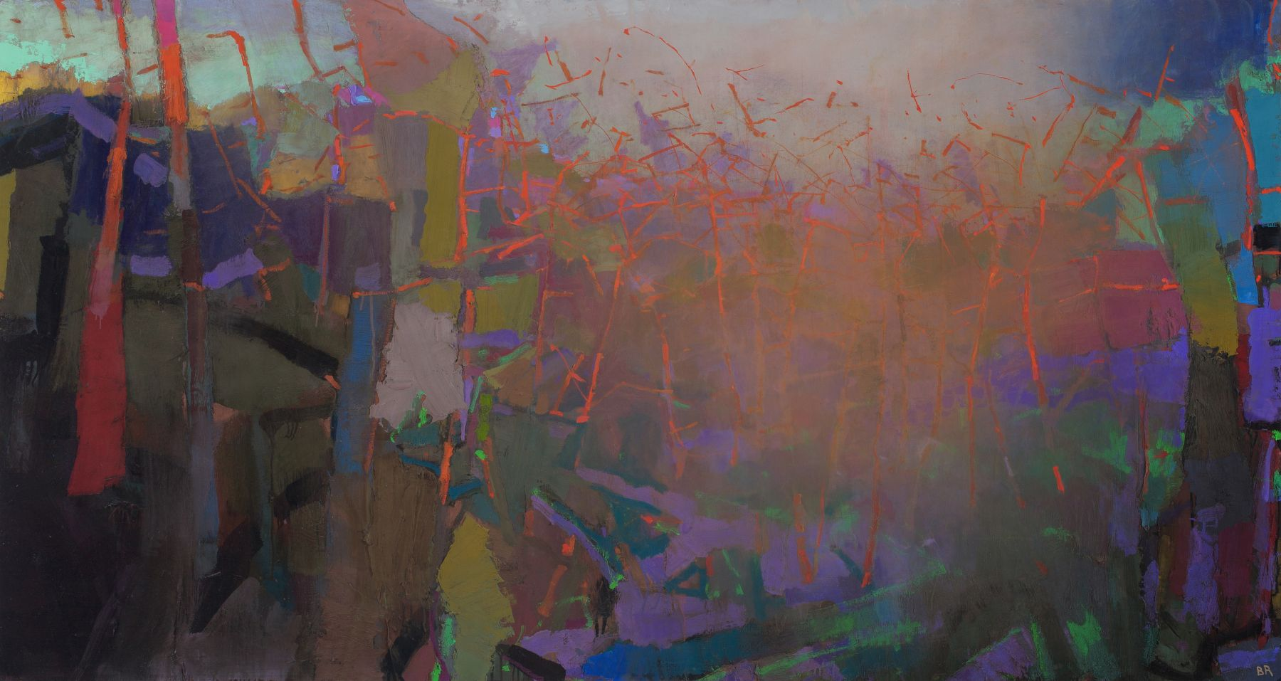 brian rutenberg, Clover, 2013-14, oil on linen, 48 x 90 inches