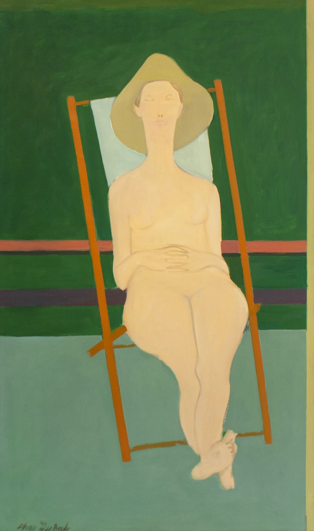 Charles DuBack (1926-2015), Daphne on Terrace, 1960