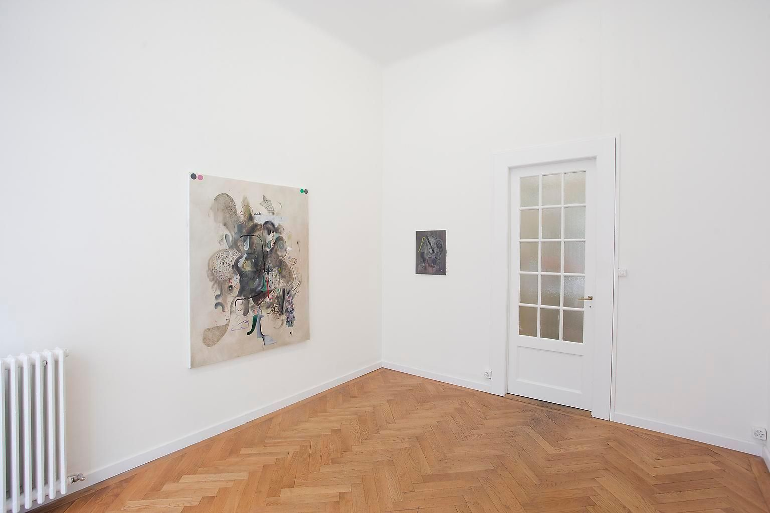 Installation view, Michael Bauer, Hänkor (Ice-cream) – H.S.O.P. – 1973, Marc Jancou, Geneva, September 13 - November 17, 2012