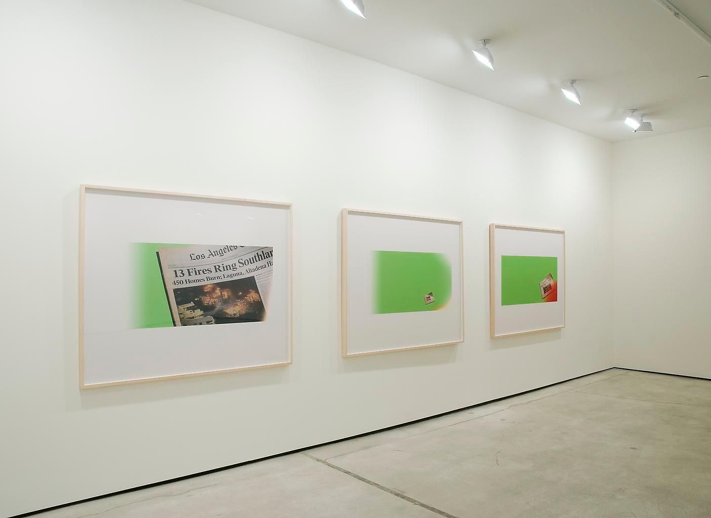 Installation view, Larry Johnson, Frame Tales, Marc Jancou, New York, May 27 - July 2, 2010