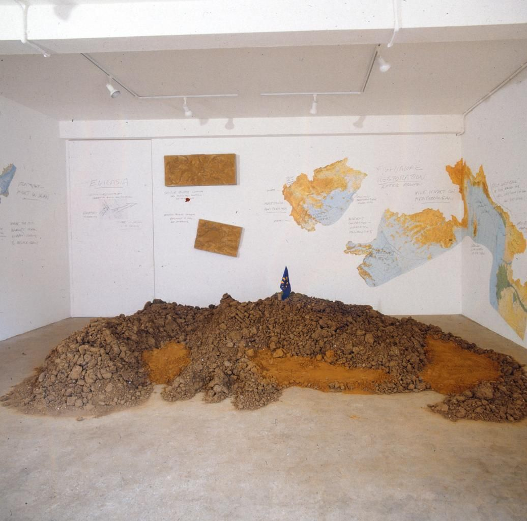 Installation View, Peter Fend: Eurasian Scenario, London Projects, April 20- May 21, 1994