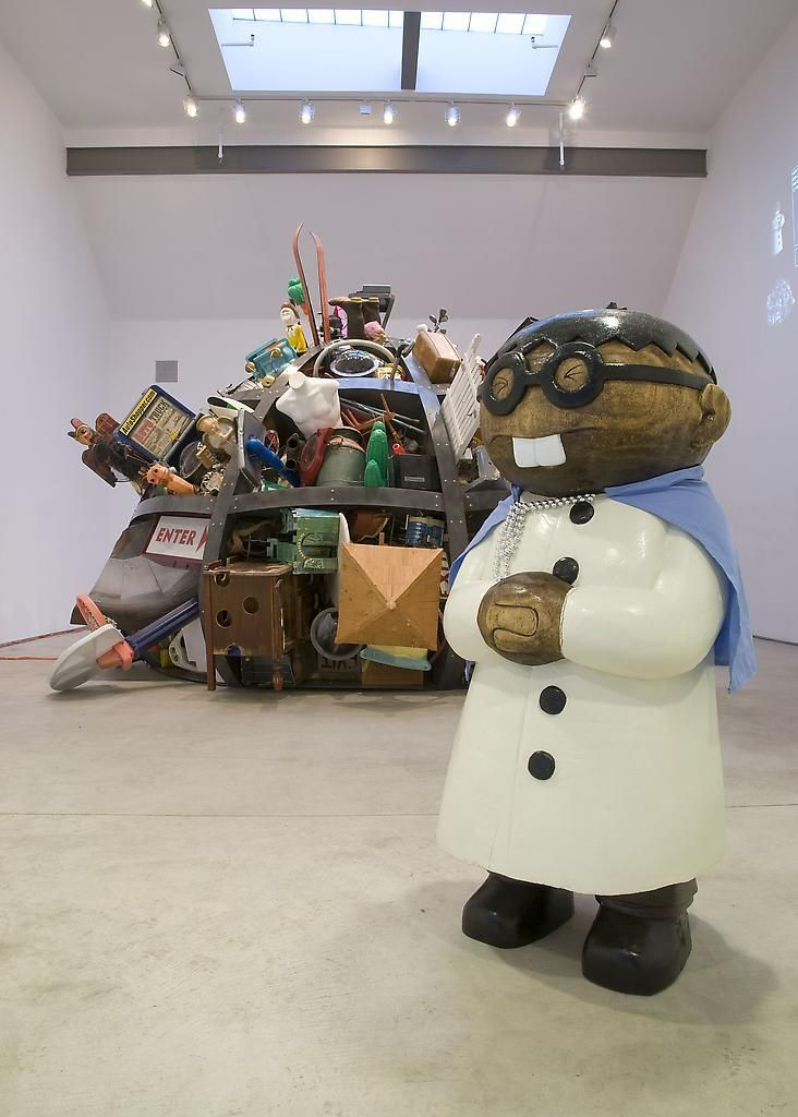 Installation view, Justin Lieberman, The Corrector's Custom Pre-Fab House, Marc Jancou, New York, January 15 - February 21, 2009