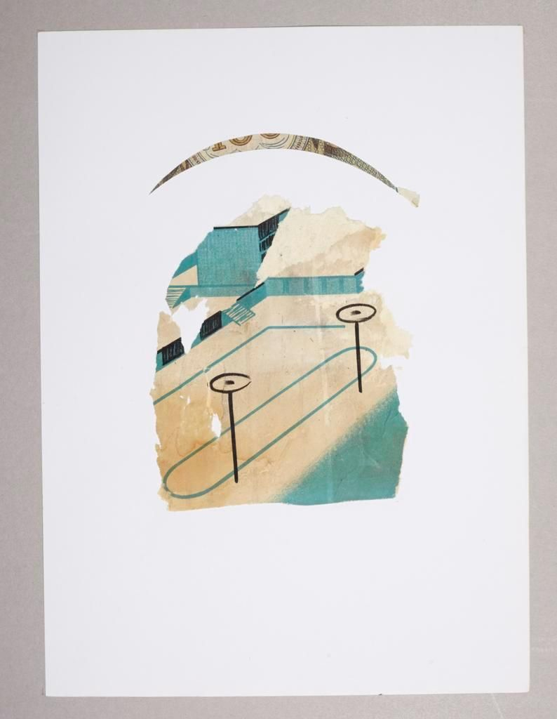 Ian Anull, Untitled,	mixed media, 1980-2000,	paper size: 23 x 31,3 cm