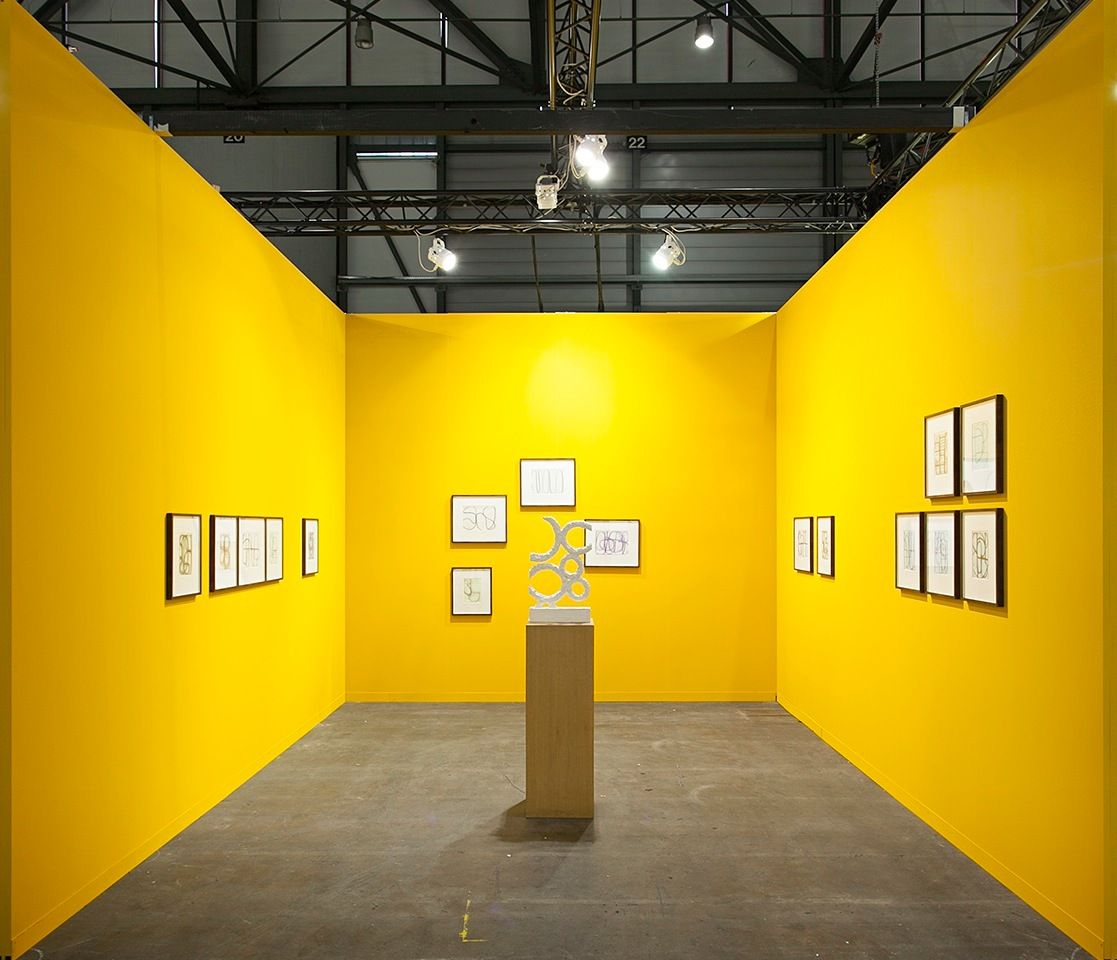 Installation view, Albrecht Schnider at Artgenève, January 30 - February 2, 2014