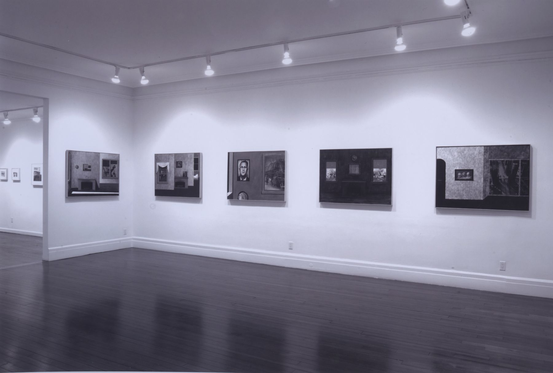 Installation view, Robert Morris: Waxing Time, Waning Light: New Paintings, 18 EAST 77