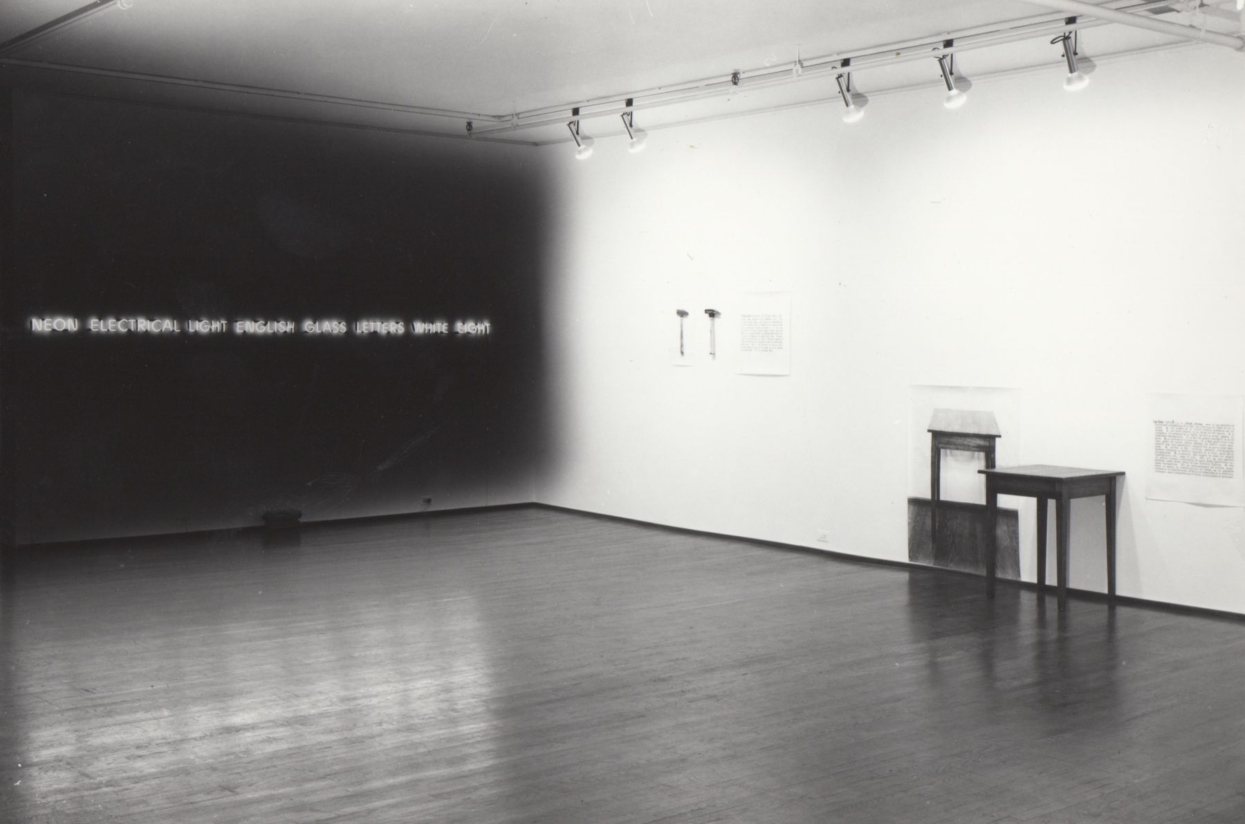 Installation view, Joseph Kosuth: Protoinvestigations 1965 – 1967, 420 WEST BROADWAY