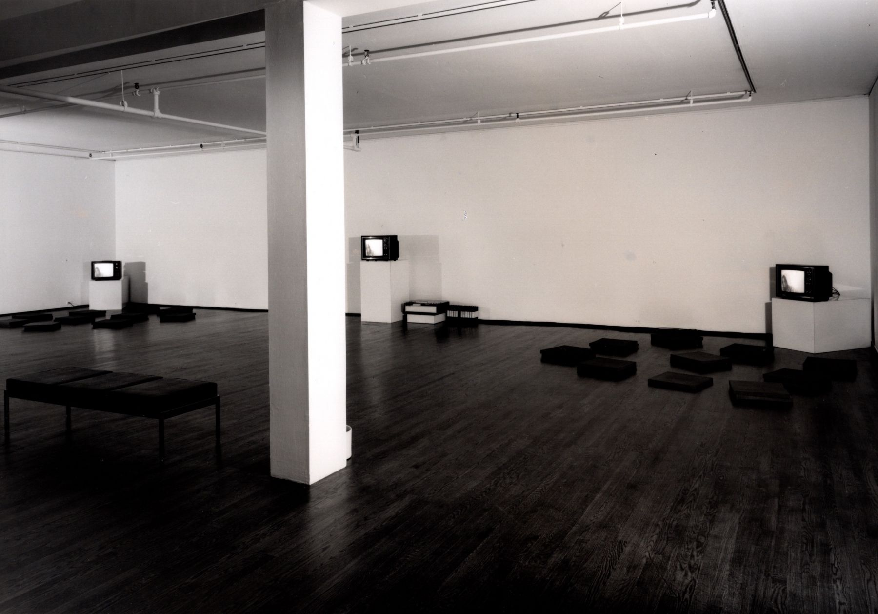 Installation view, Group Video Exhibition, 420 WEST BROADWAY.