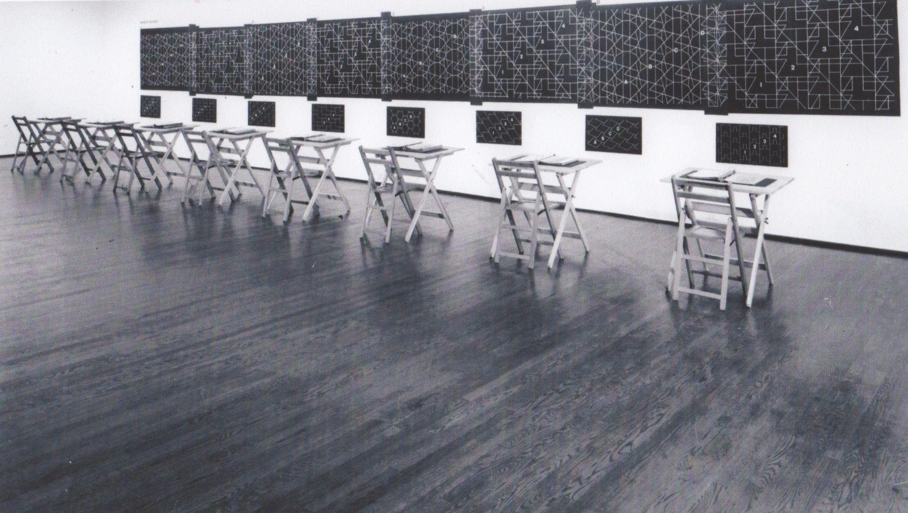 Installation view, Joseph Kosuth: Tenth Investigation, Position Four, 420 WEST BROADWAY