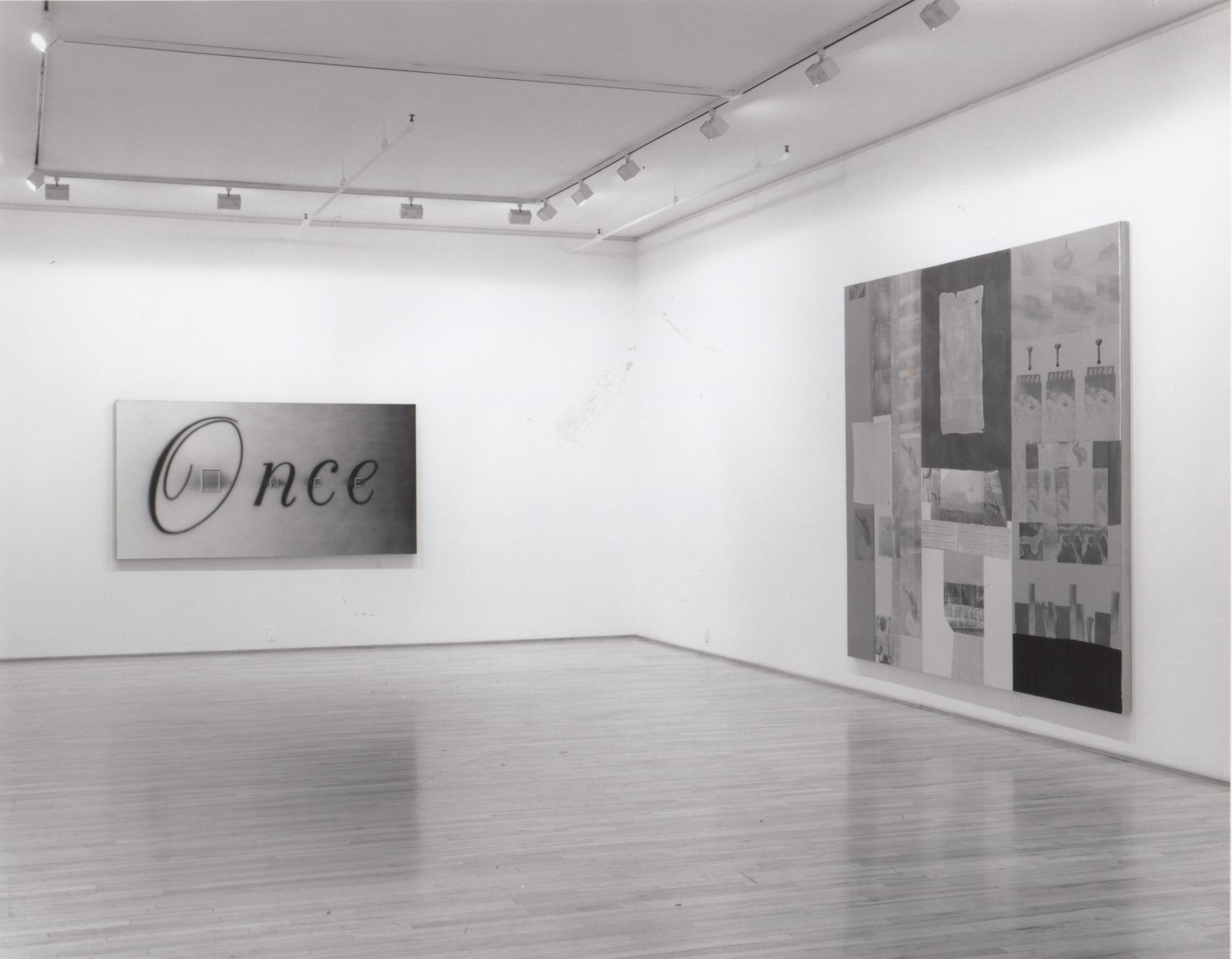 Installation view, Collage Group Exhibition, 578 BROADWAY.