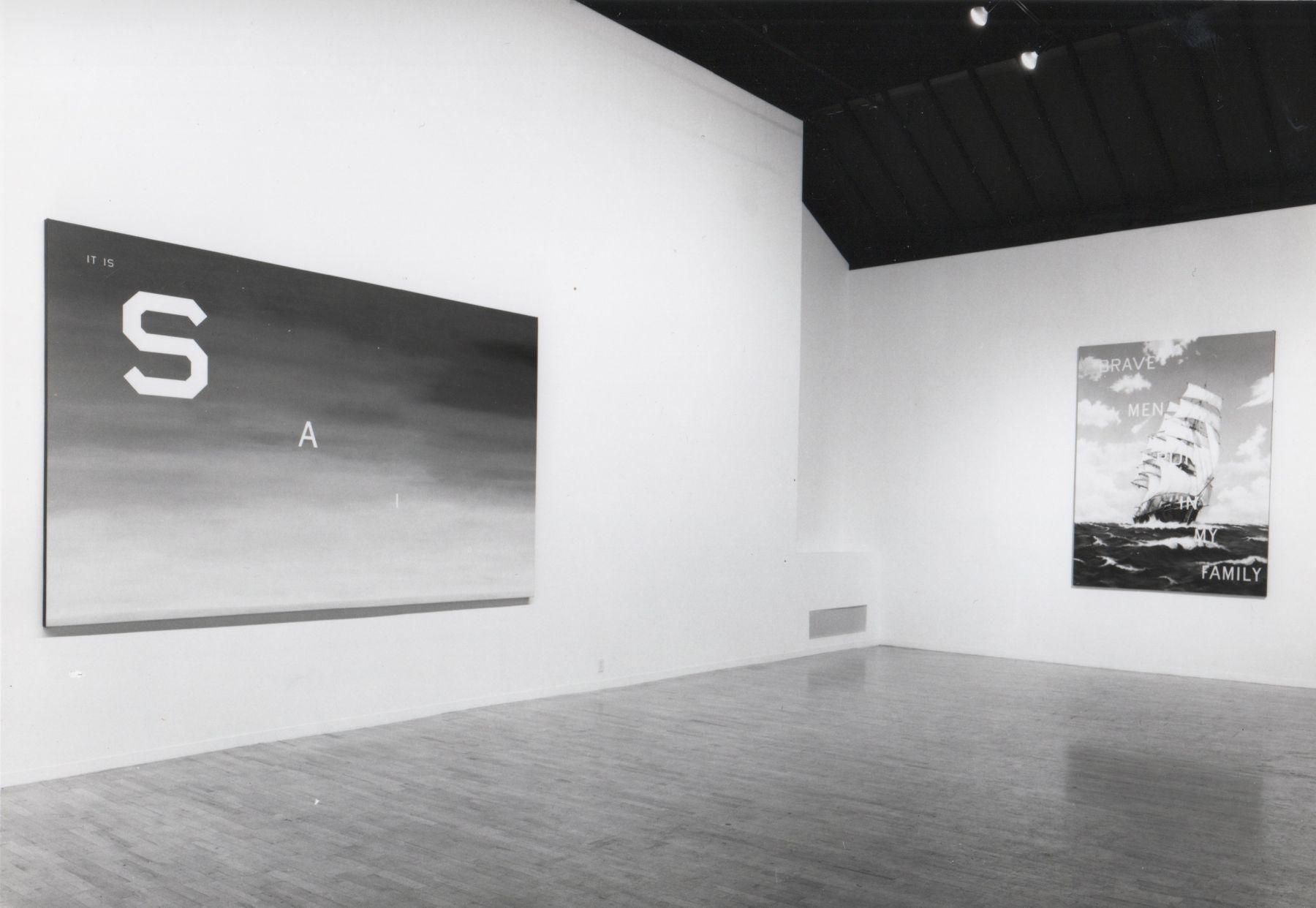 Installation view, Ed Ruscha, 142 GREENE.