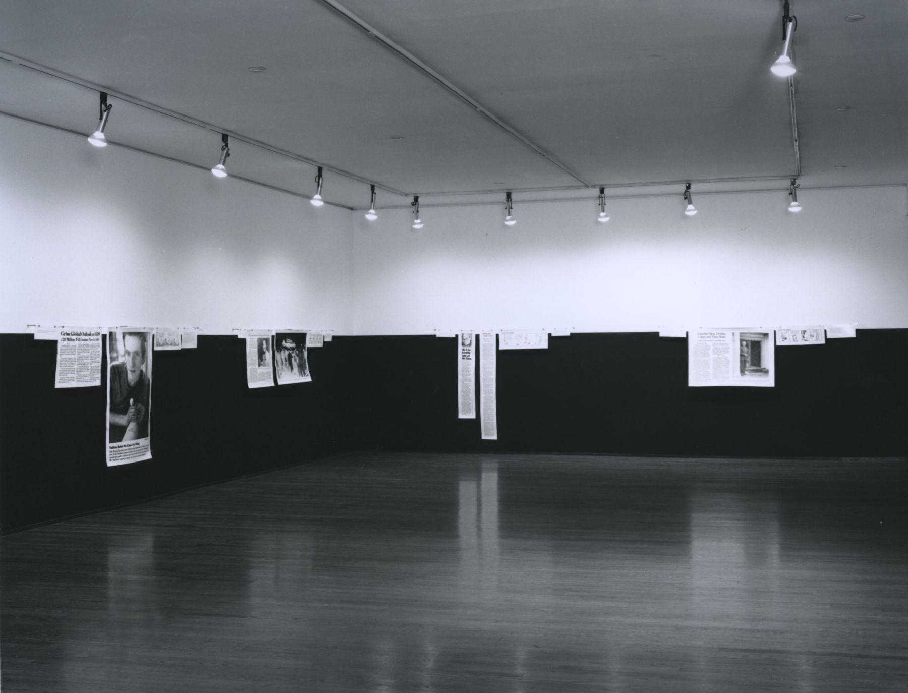 Installation view, Joseph Kosuth, 420 WEST BROADWAY
