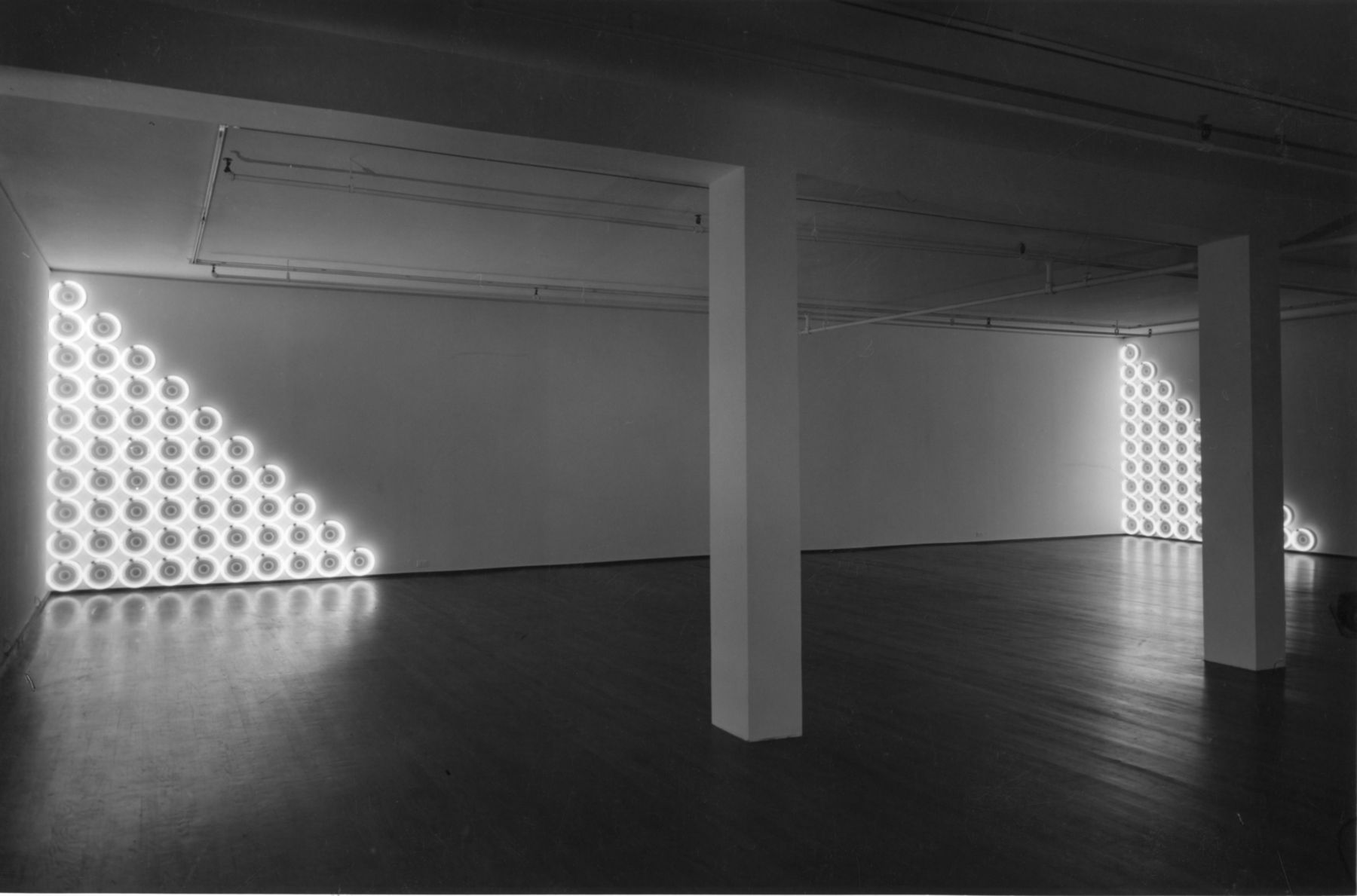 Installation view, Dan Flavin, 420 WEST BROADWAY