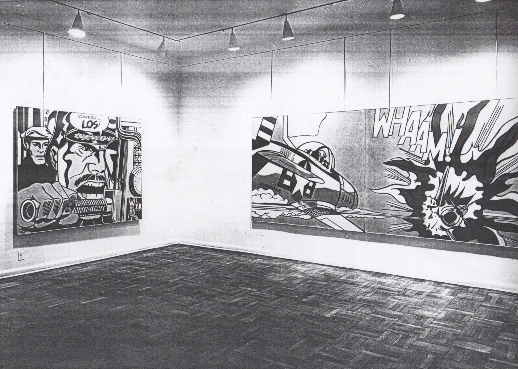 Installation view, Roy Lichtenstein, 4 EAST 77.