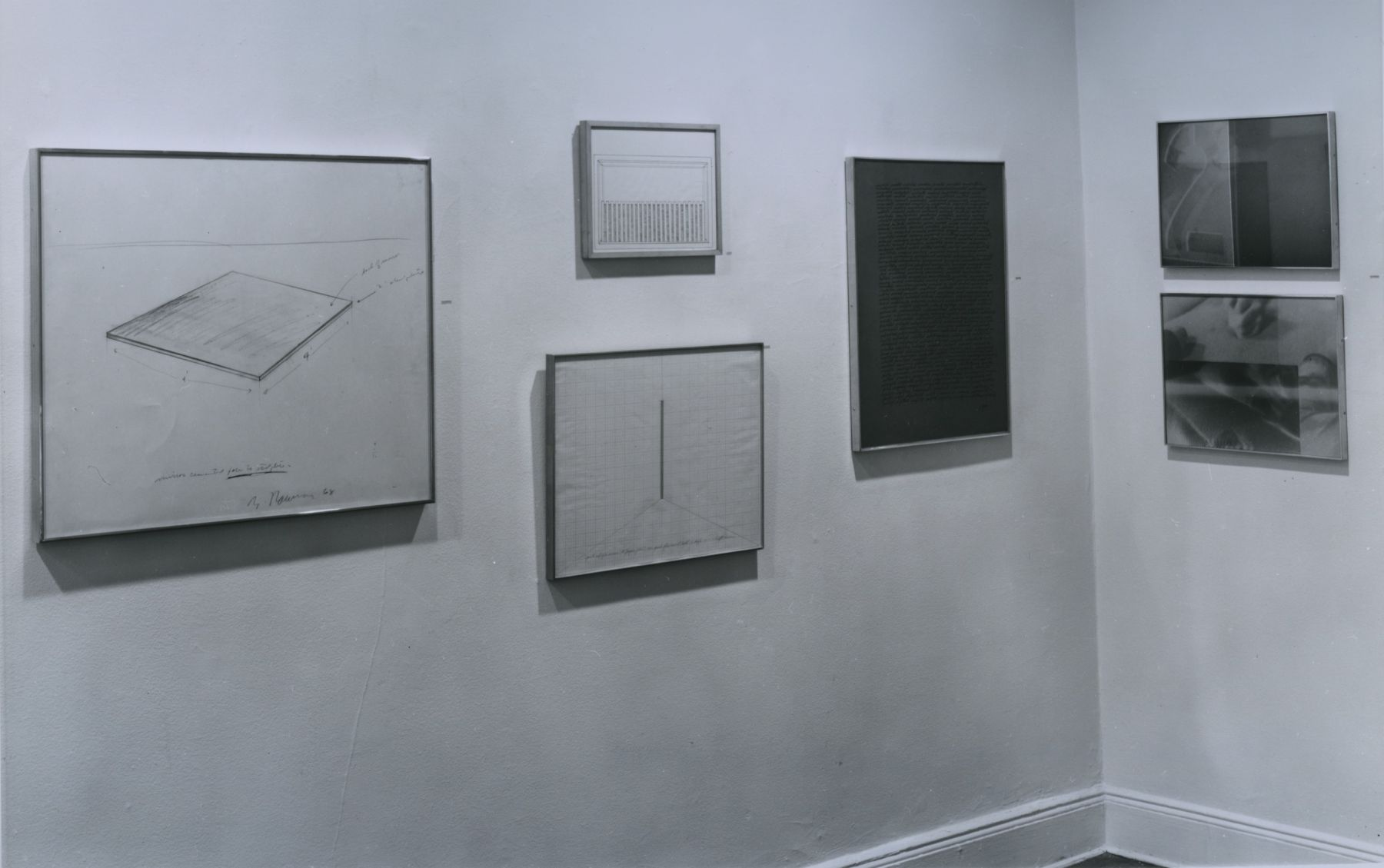 Installation view, Group Drawing Exhibition, 18 EAST 77.