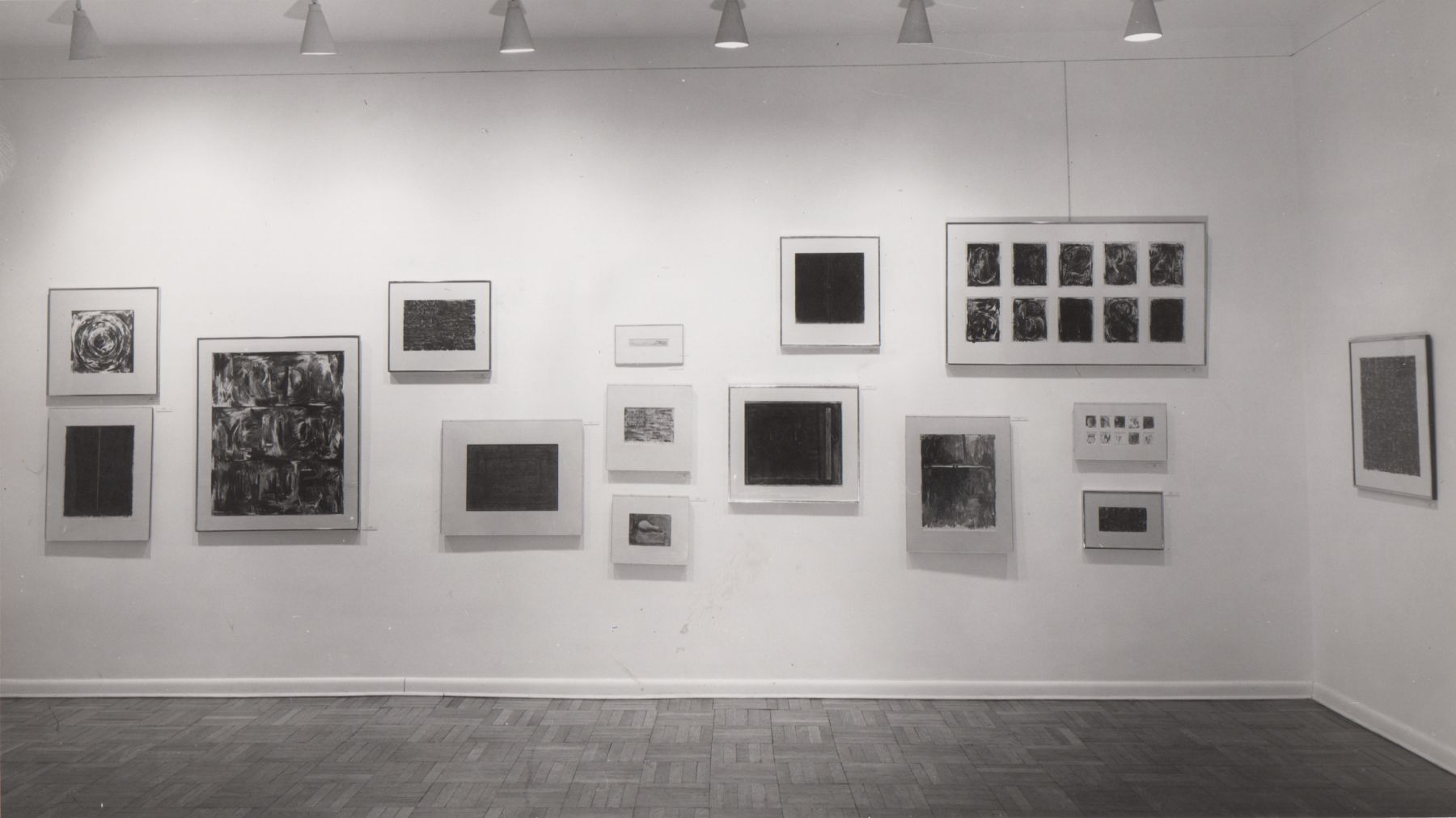 Installation view, Jasper Johns: Drawings and Sculpture, 4 EAST 77.