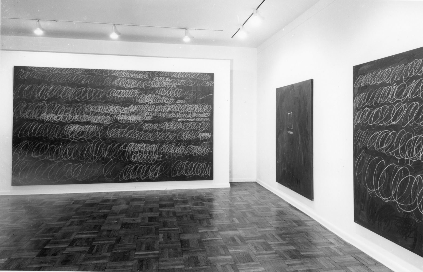 Installation view, Cy Twombly, 4 EAST 77