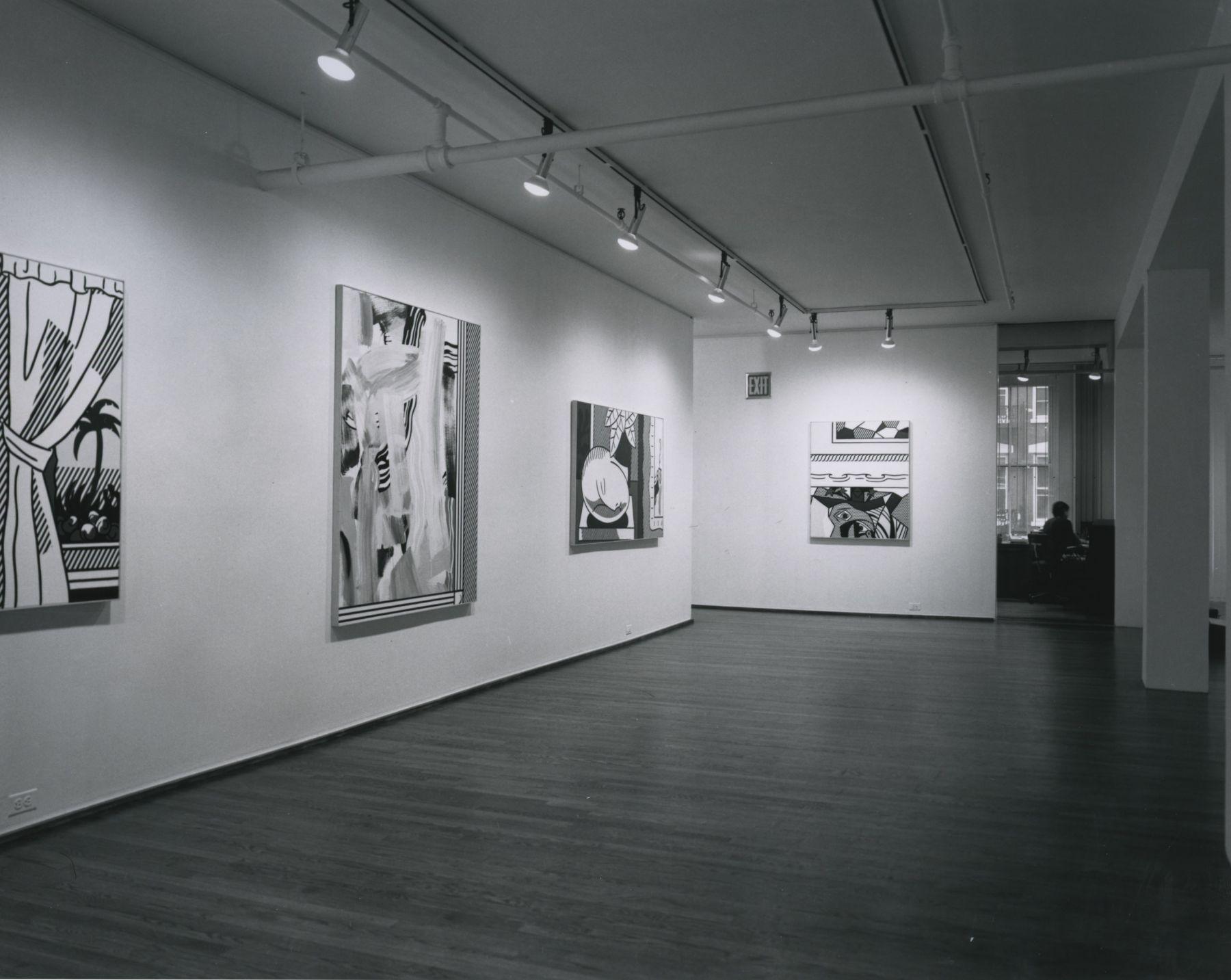 Installation view, Roy Lichtenstein, 420 WEST BROADWAY.