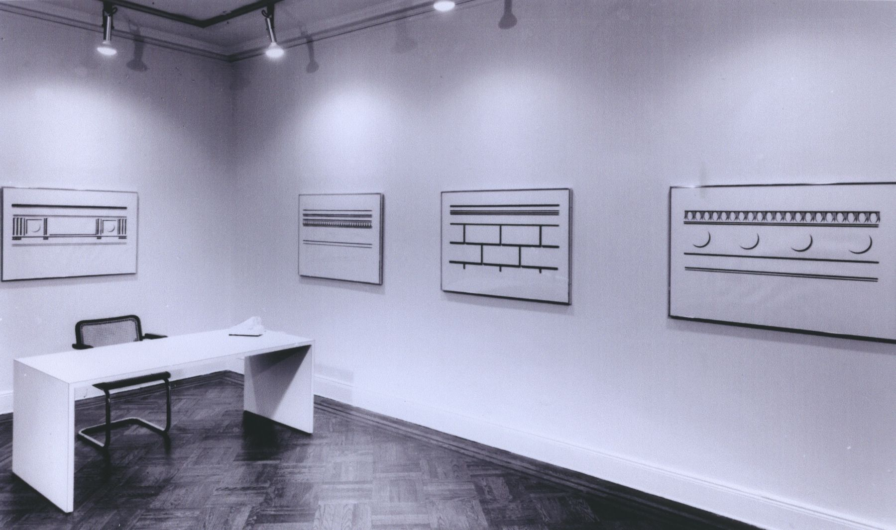 Installation view, Roy Lichtenstein Drawings, 4 EAST 77.